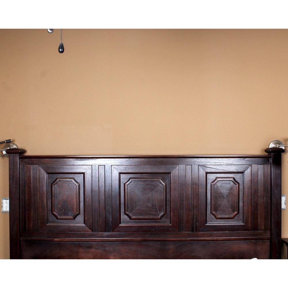 Arhaus Mahogany Veneer King Bed Frame