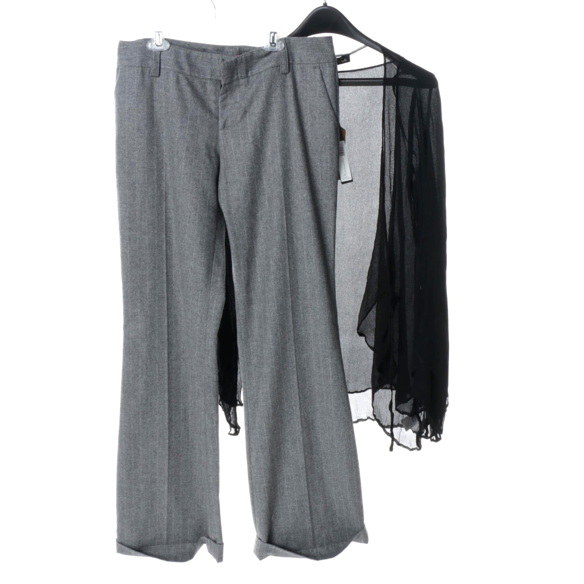Women's Alice + Olivia Pants and Winter Kate Silk Top