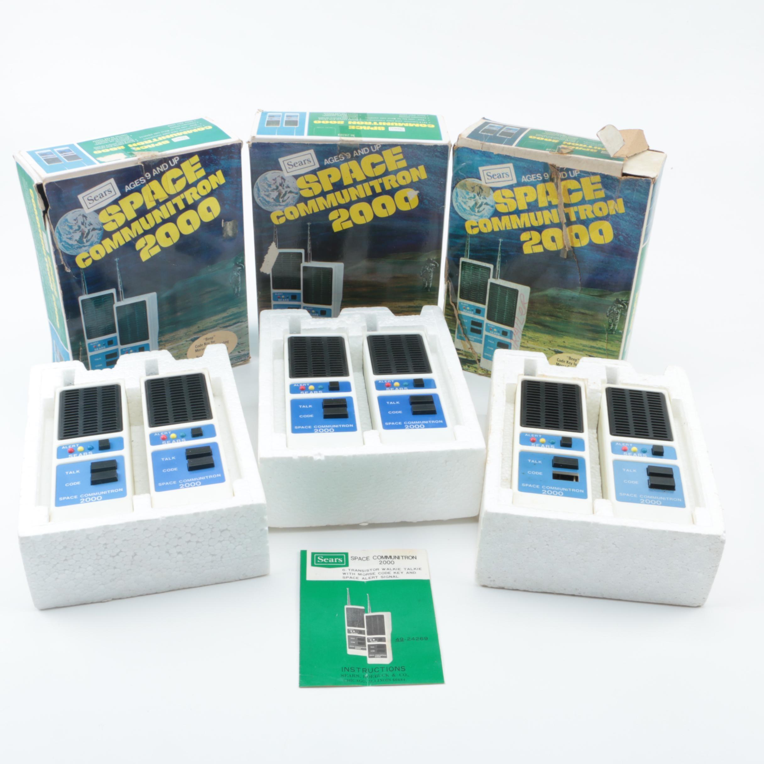 Vintage Space Communitron 2000 Walkie Talkies