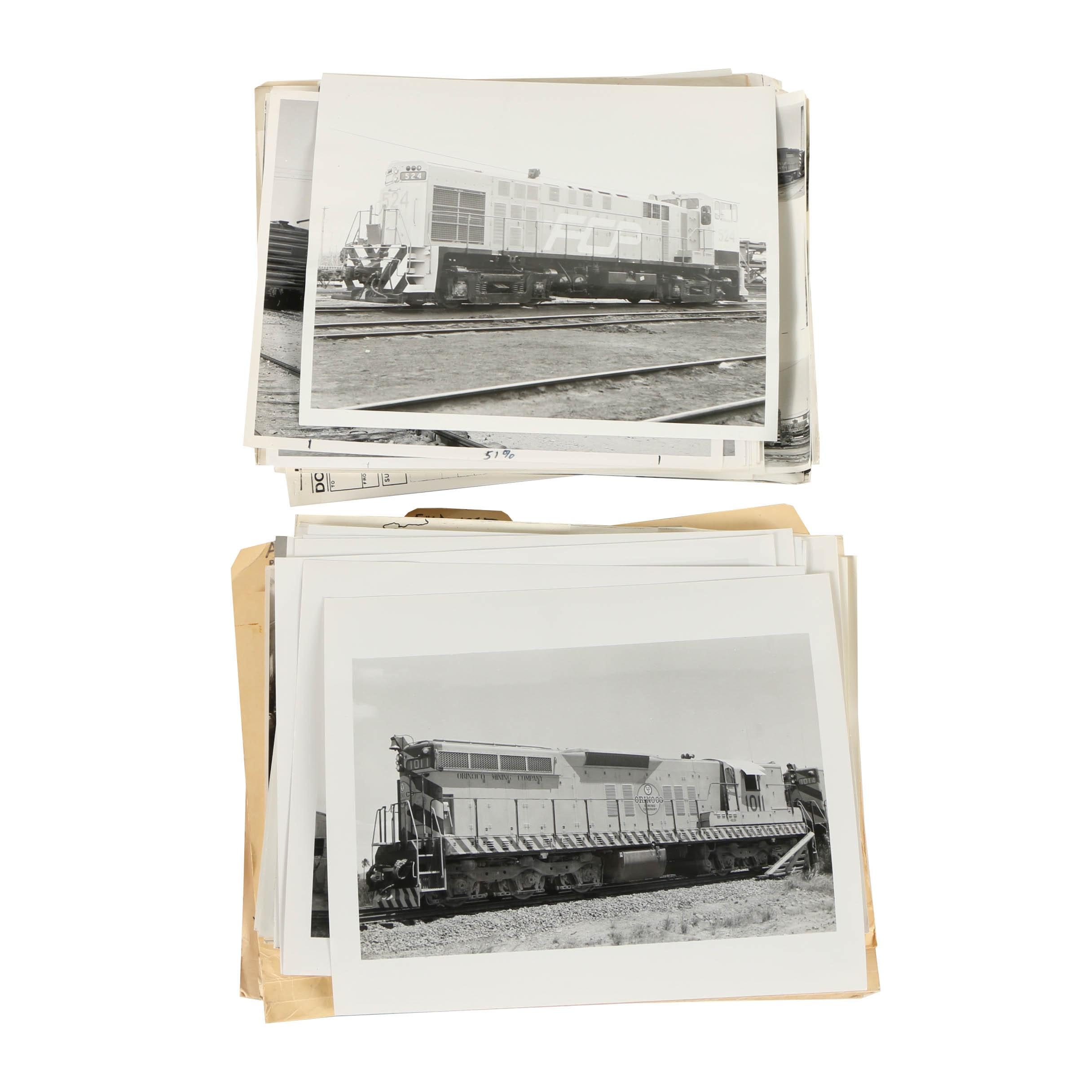 Late 20th Century Train Photographs and Ephemera