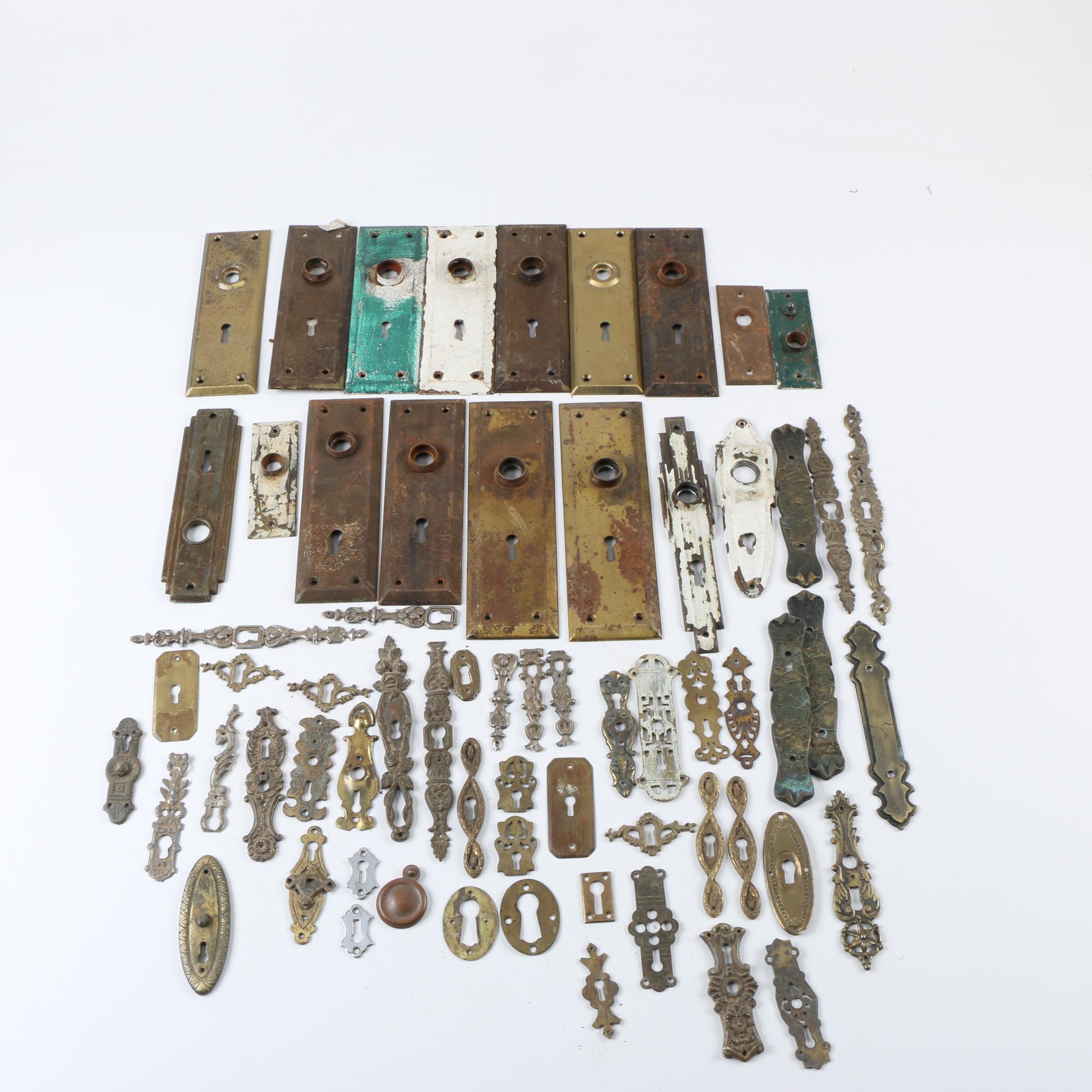 Assortment of Brass Door Hardware