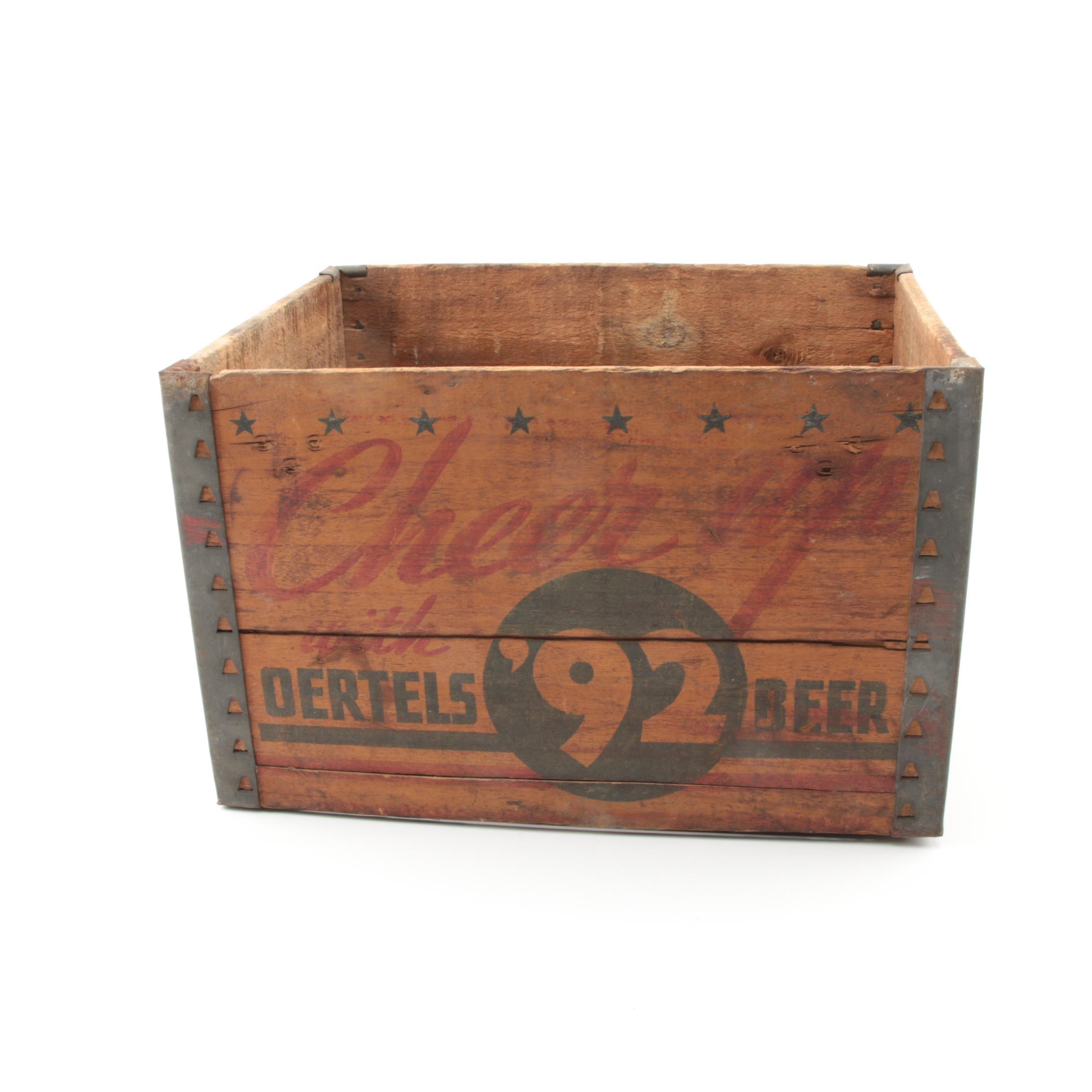 Vintage Oertels '92 Beer Crate