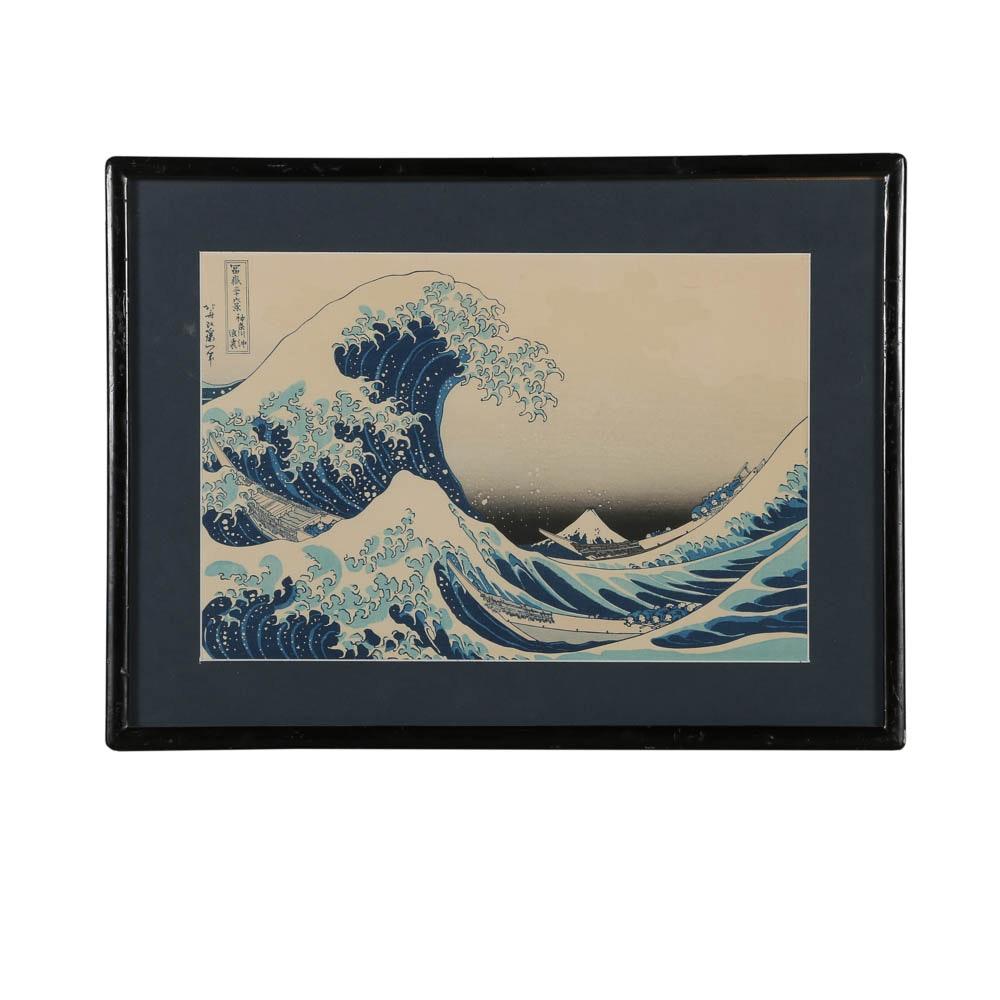 "Re-strike Woodblock ""Under the Wave off Kanagawa"" After Katsushika Hokusai"