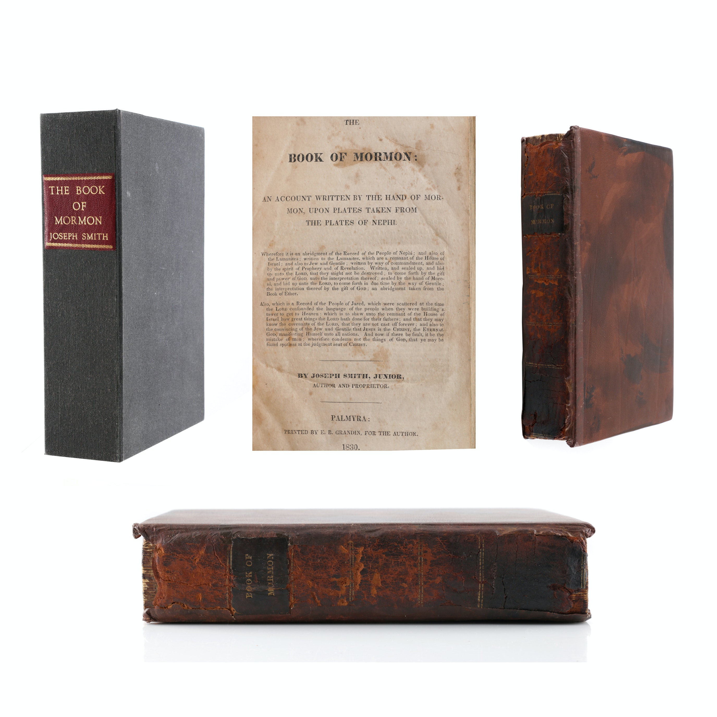 "1830 Pugh Family Palmyra First Edition ""Book of Mormon"""