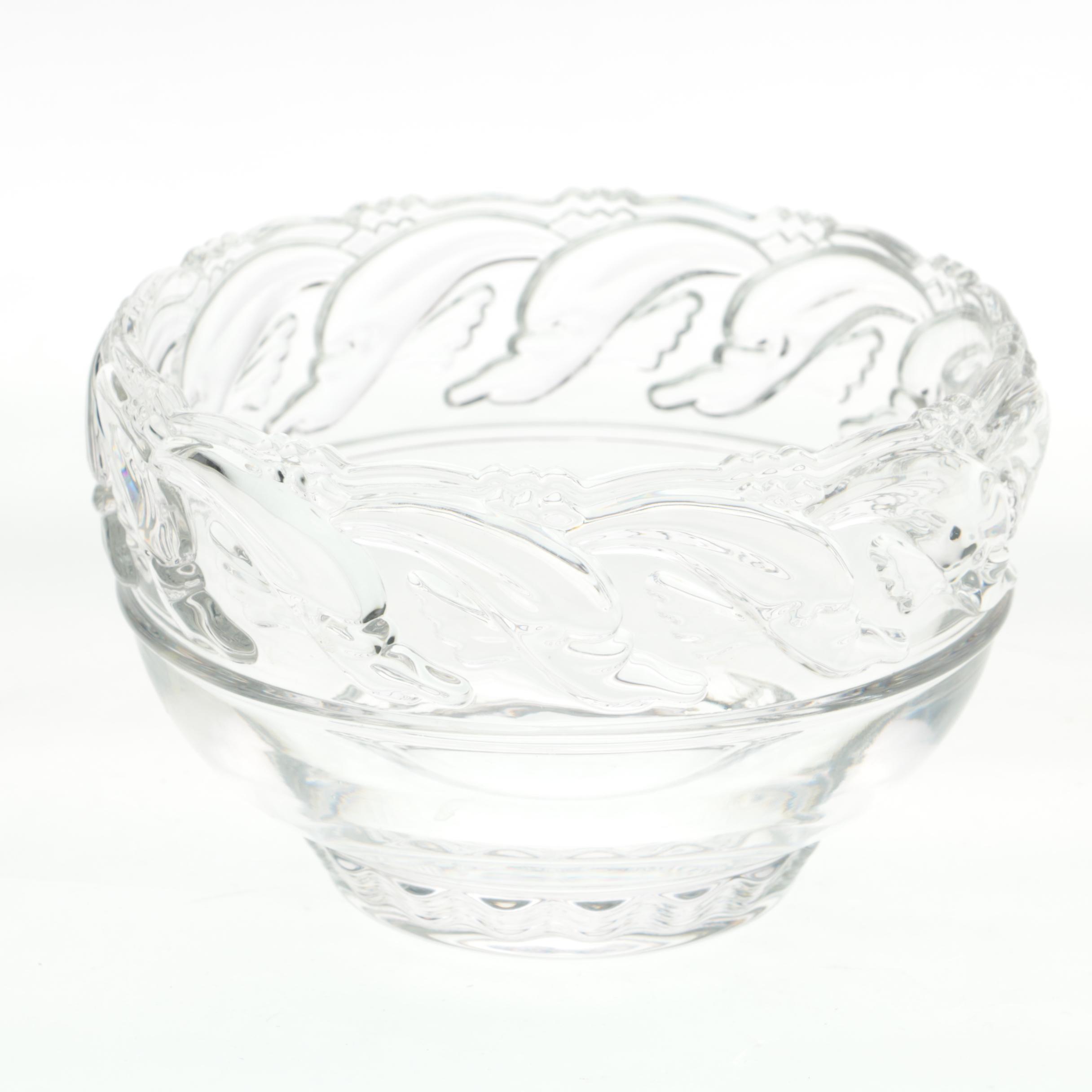 """Tiffany & Co.Crystal """"Dolphin"""" Bowl"""