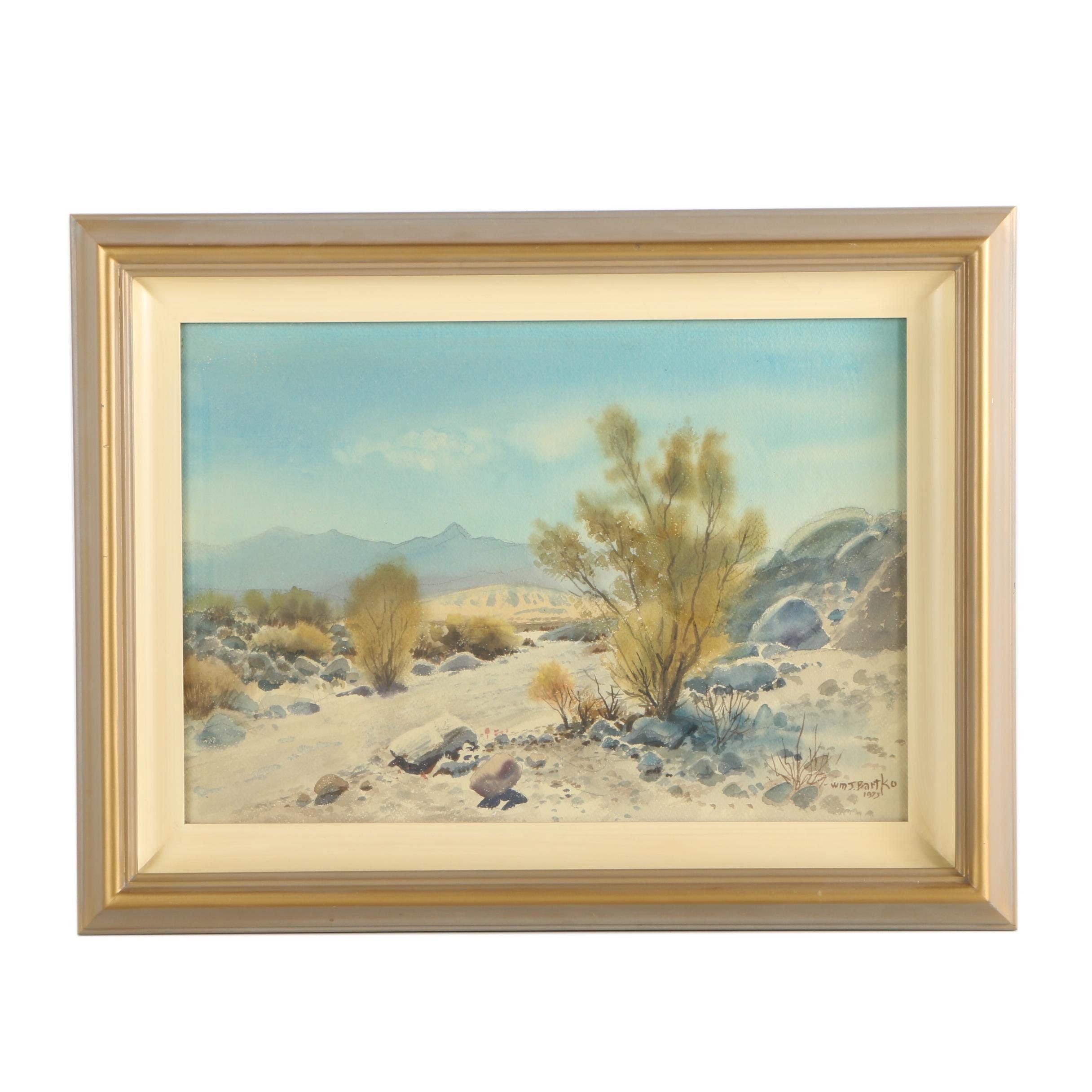 William J. Bartko Watercolor Painting