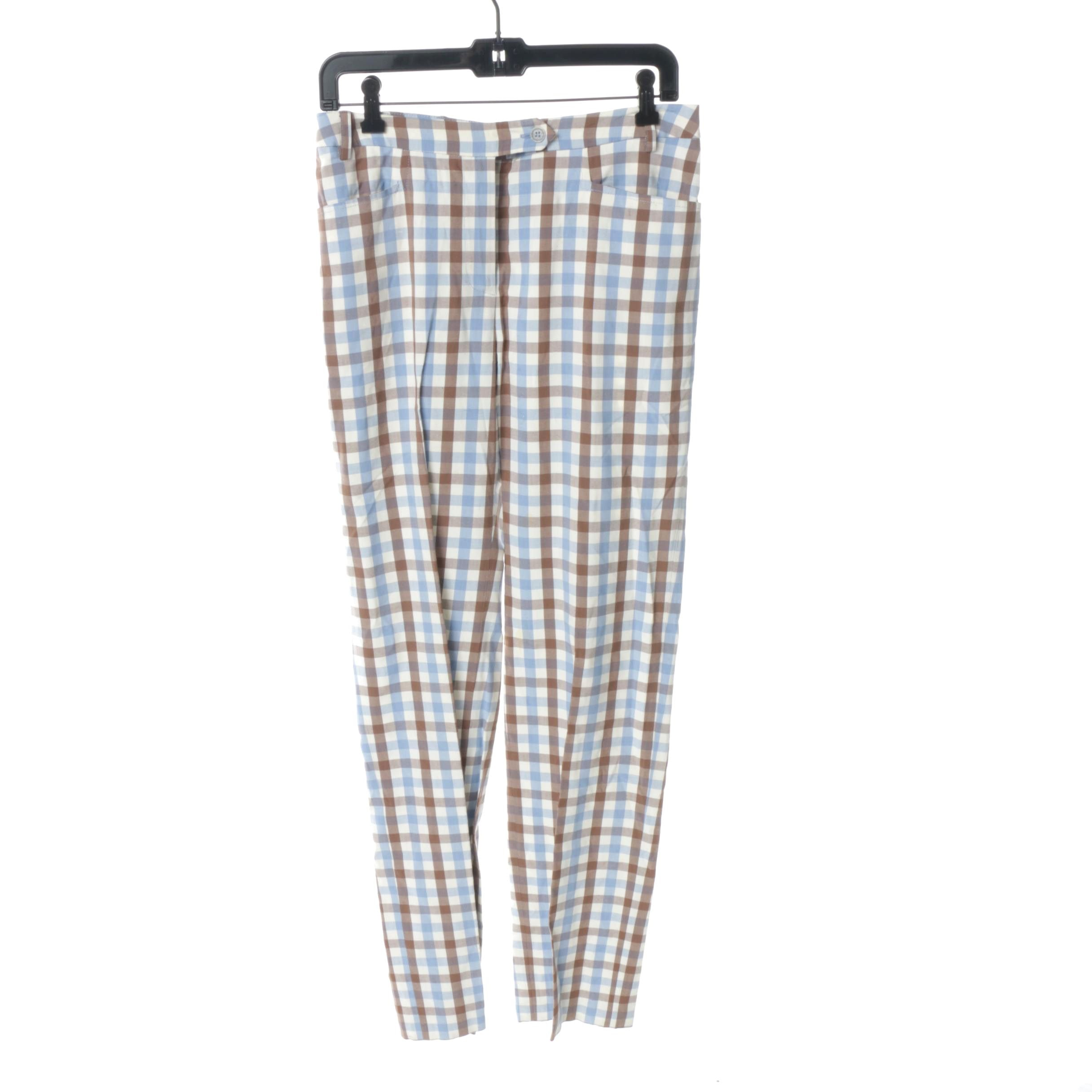 Women's Cheap and Chic by Moschino Plaid Cotton Trousers