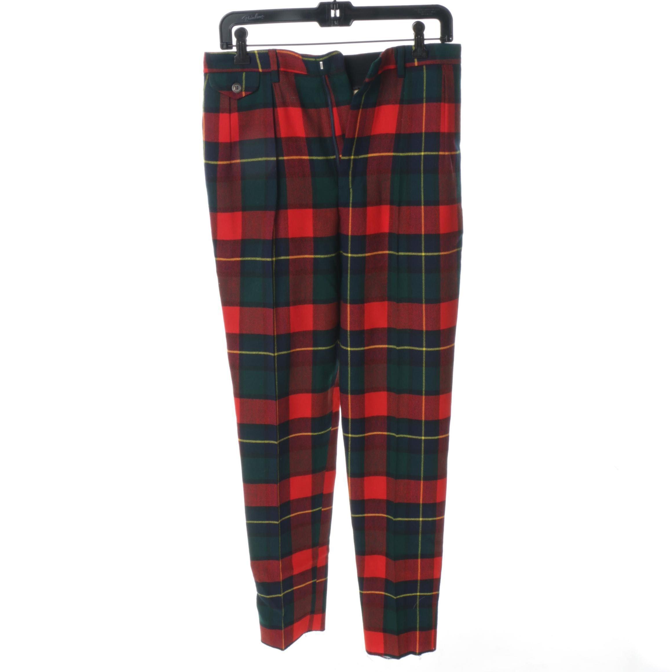 Women's Ralph Lauren Plaid Trousers