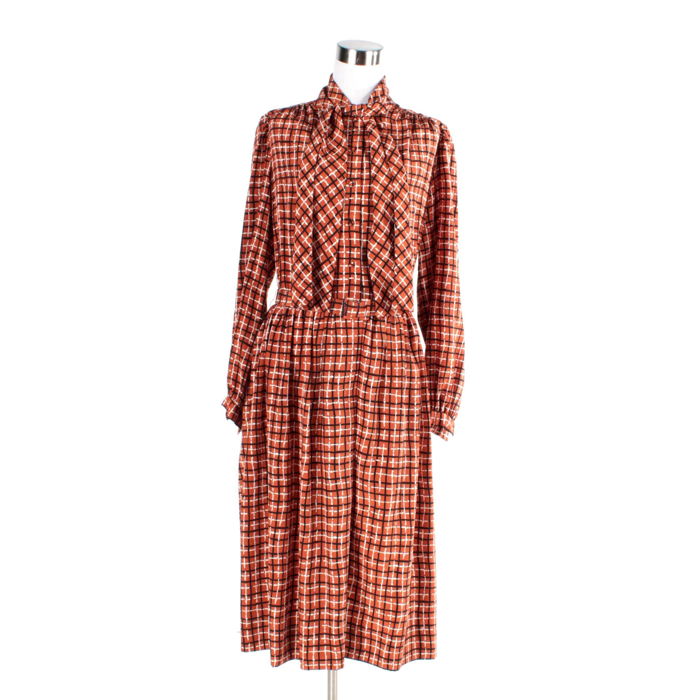 1970s Pauline Trigere Trigeresport for Schrader Dress