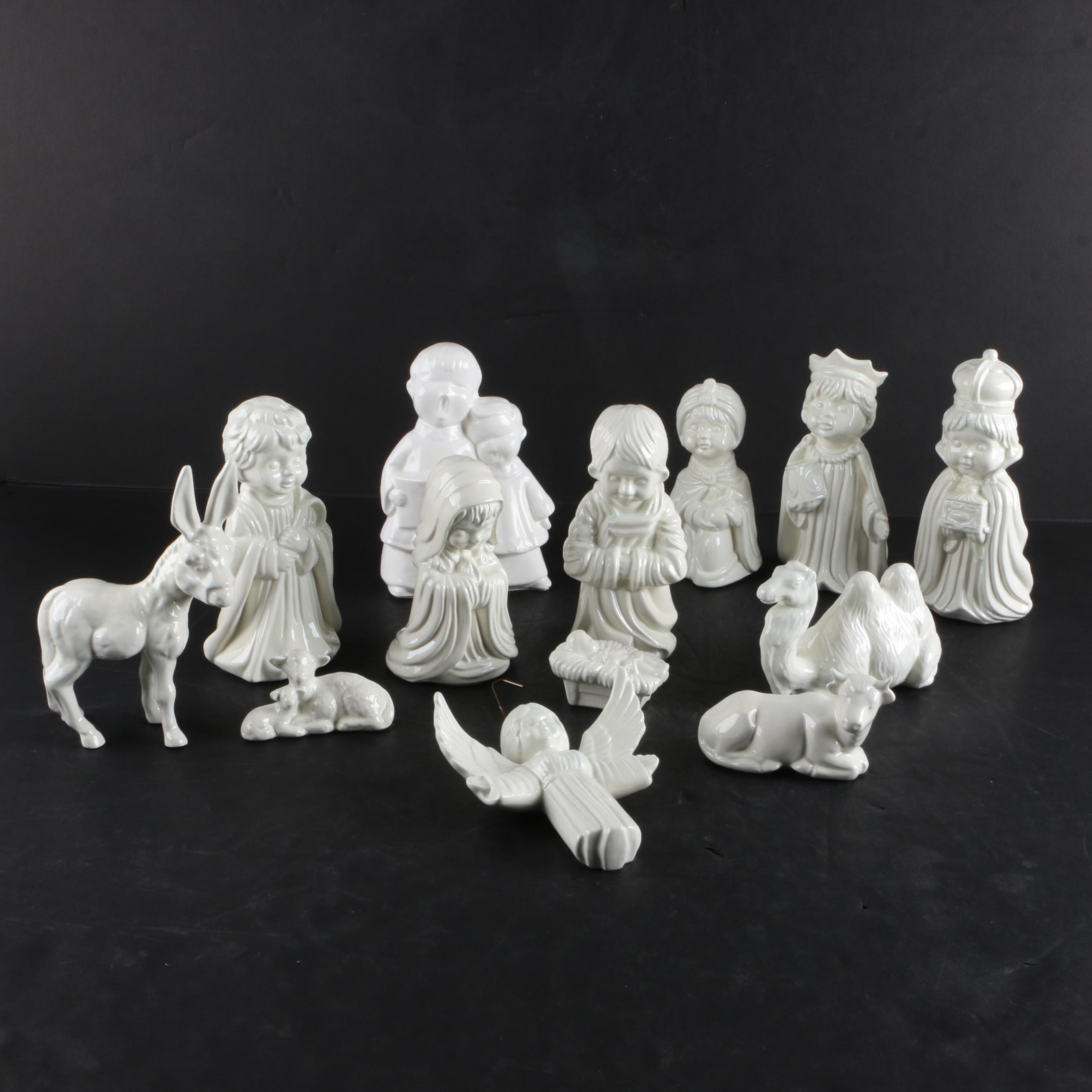 Ceramic Nativity Figurines