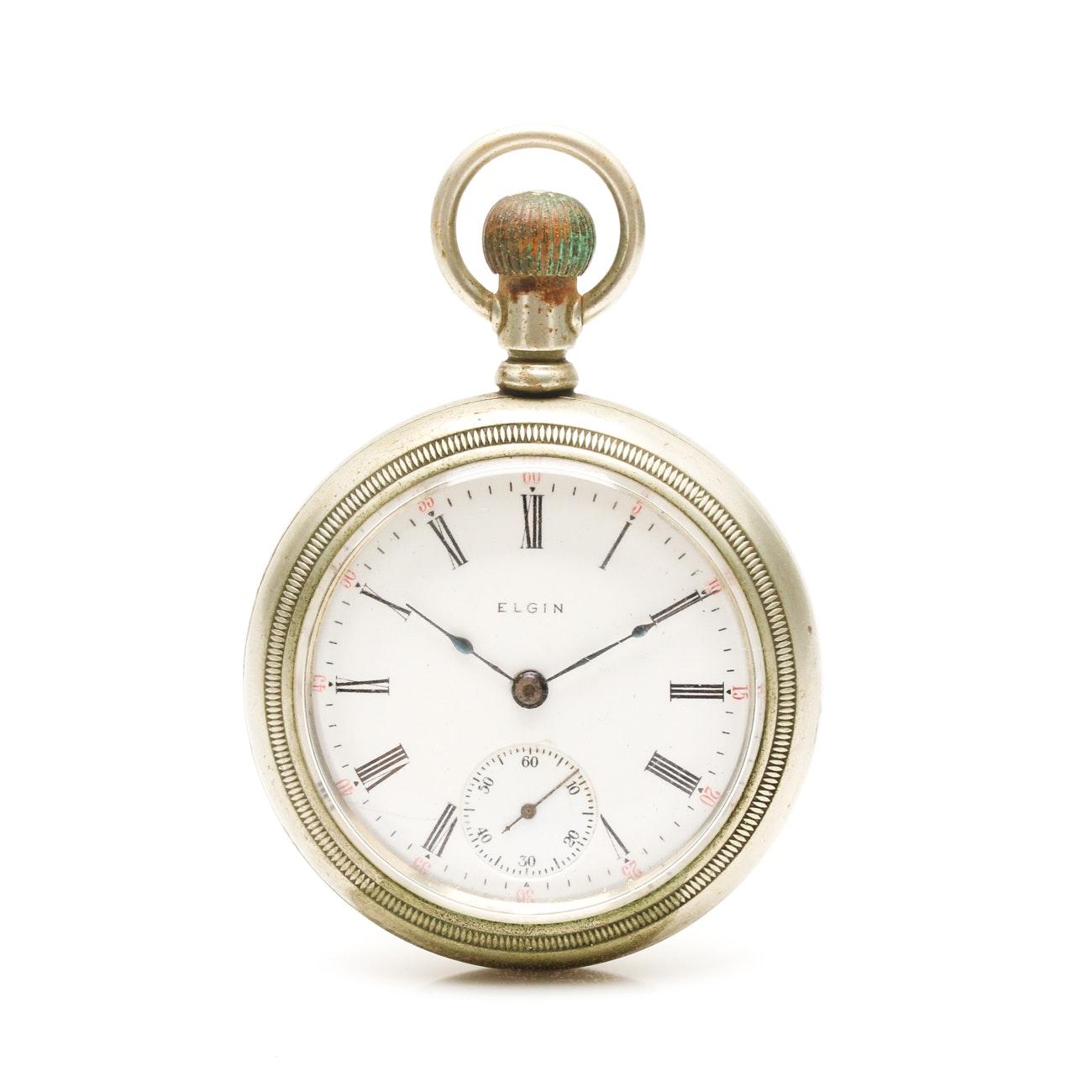 Antique Elgin Open Face Pocketwatch