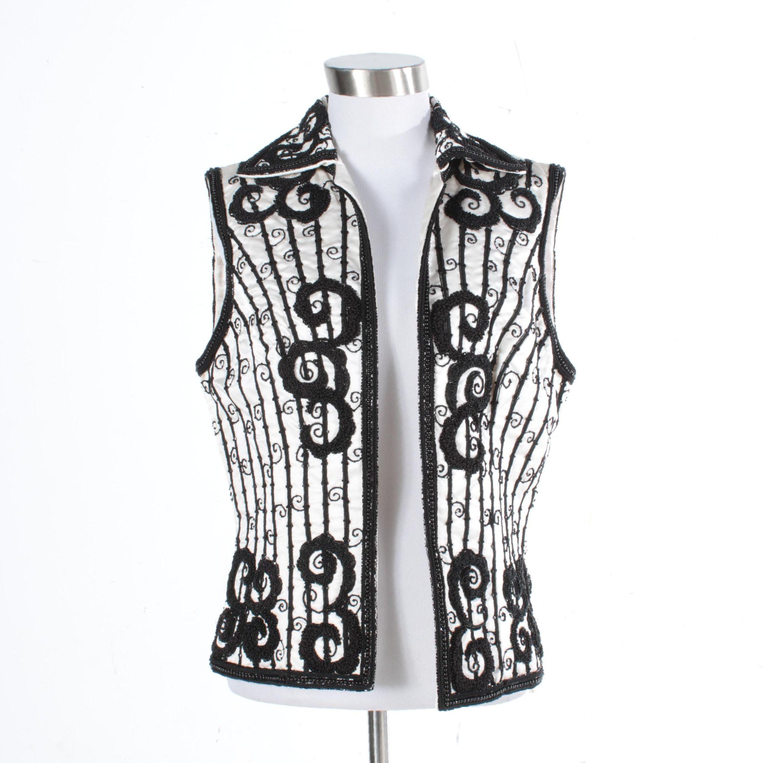 Joanna Mastroianni Embellished Vest