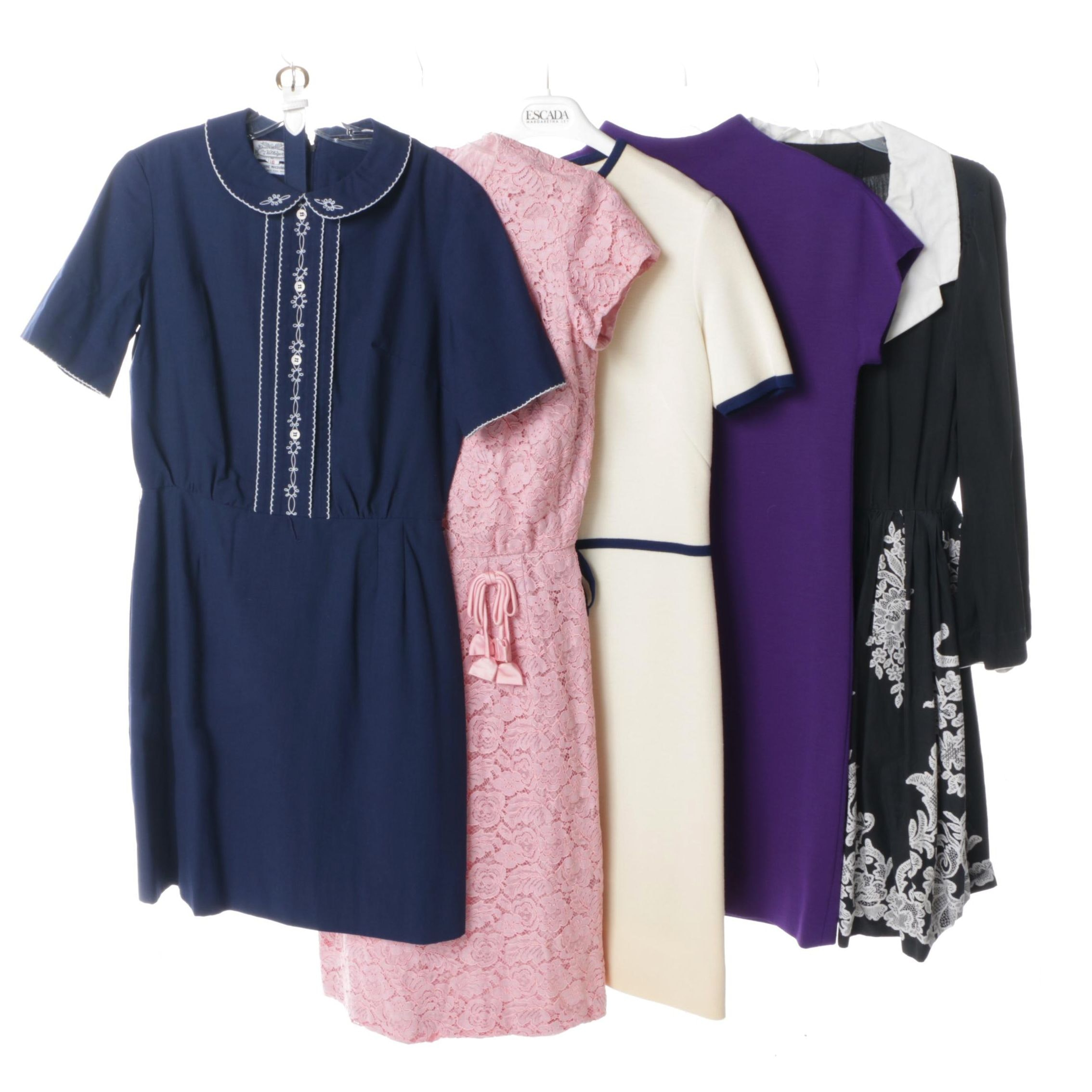 Women's Circa 1960s Vintage Dresses Including The Villager and Nan Leslie