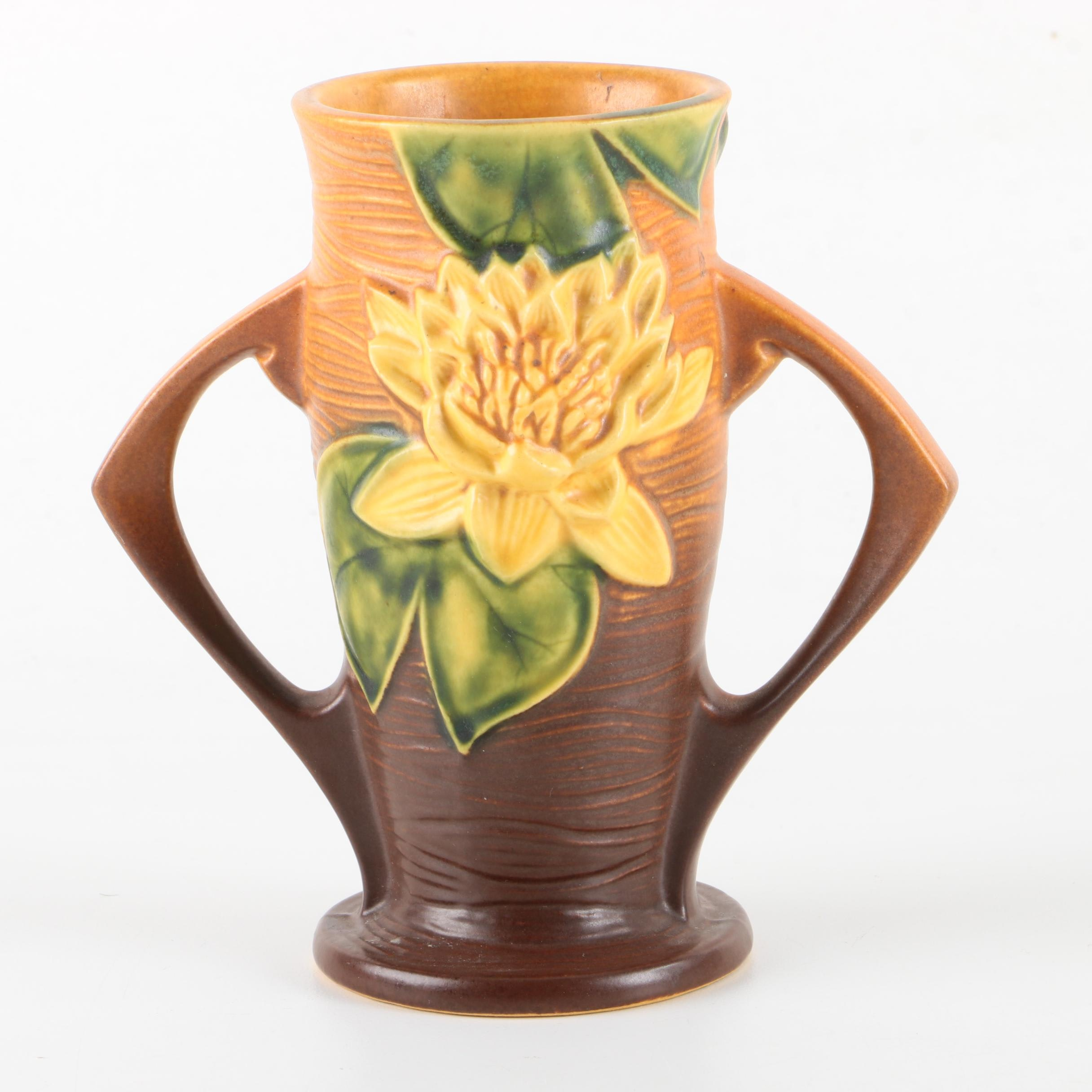 "Roseville Pottery ""Water Lily"" Vase"