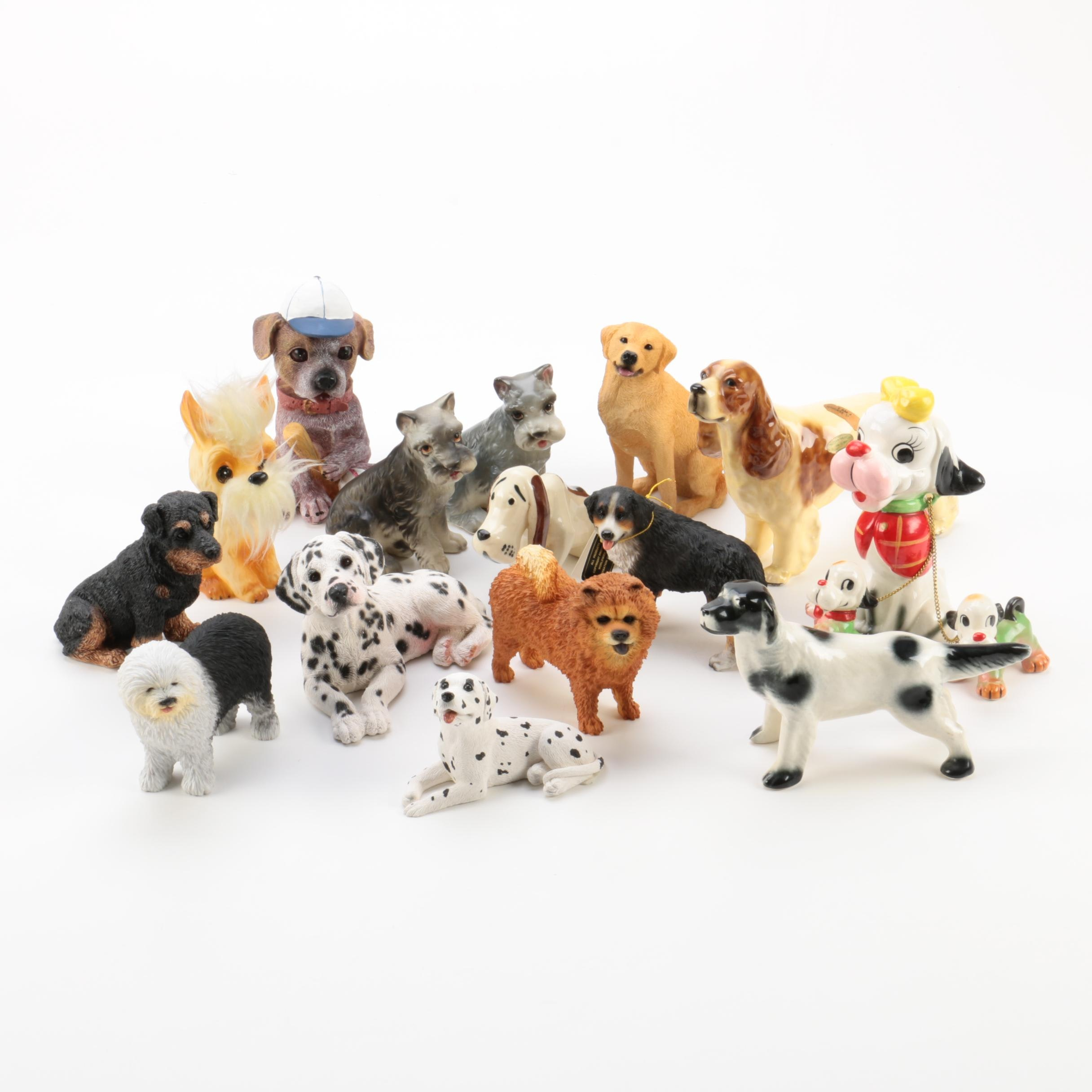 Ceramic and Resin Dog Figurines