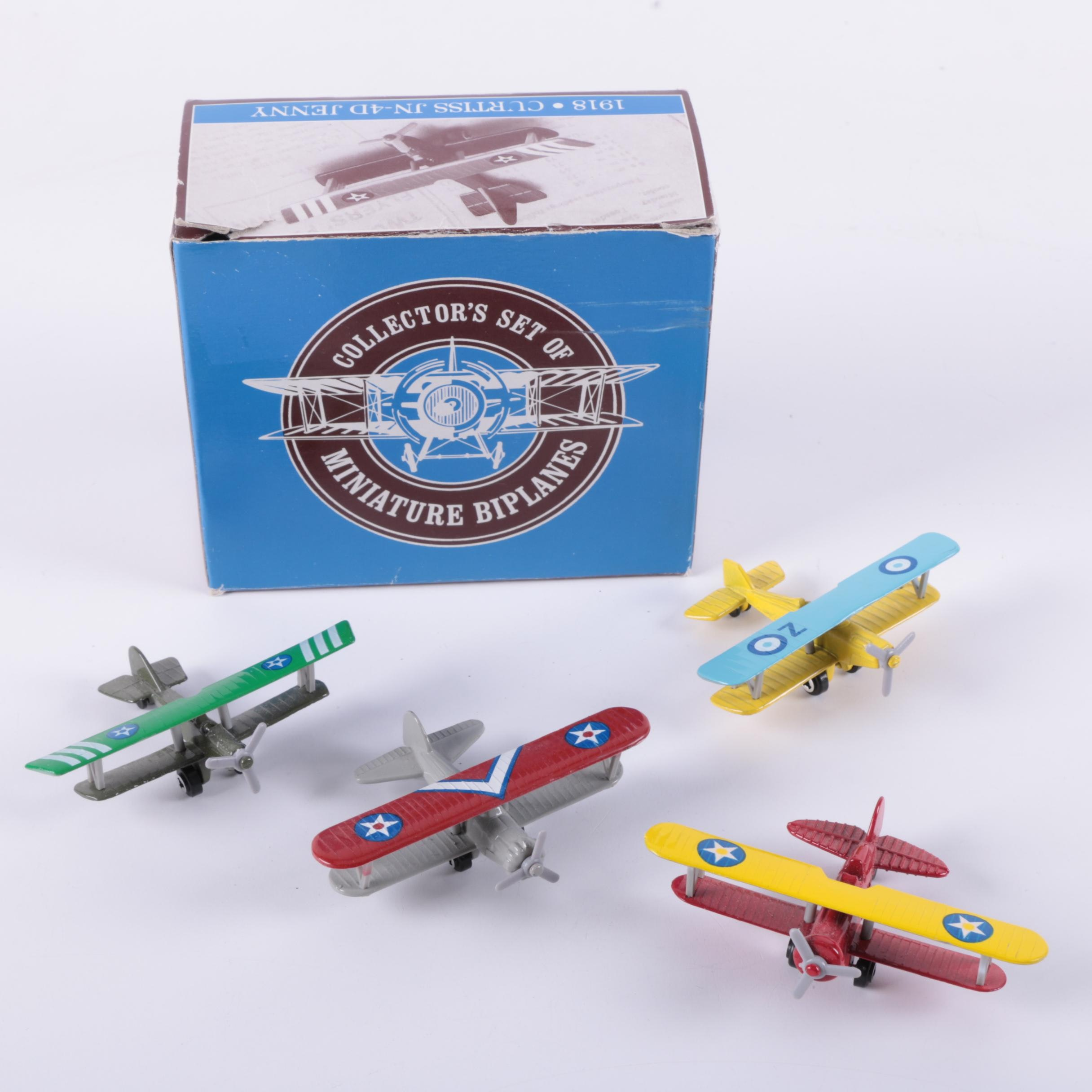 Die Cast World War I Era Biplane Set