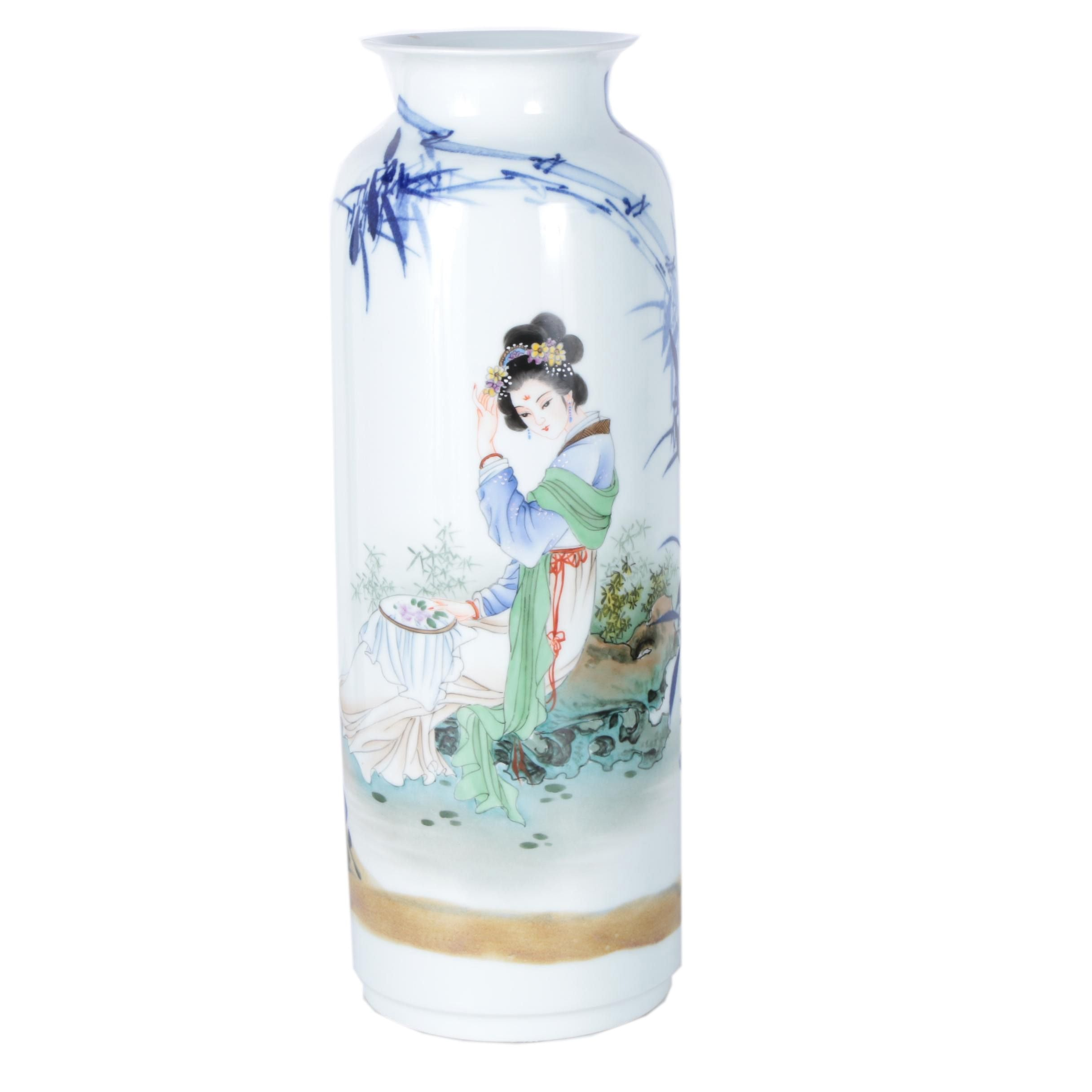 Chinese Ceramic Sleeve Vase