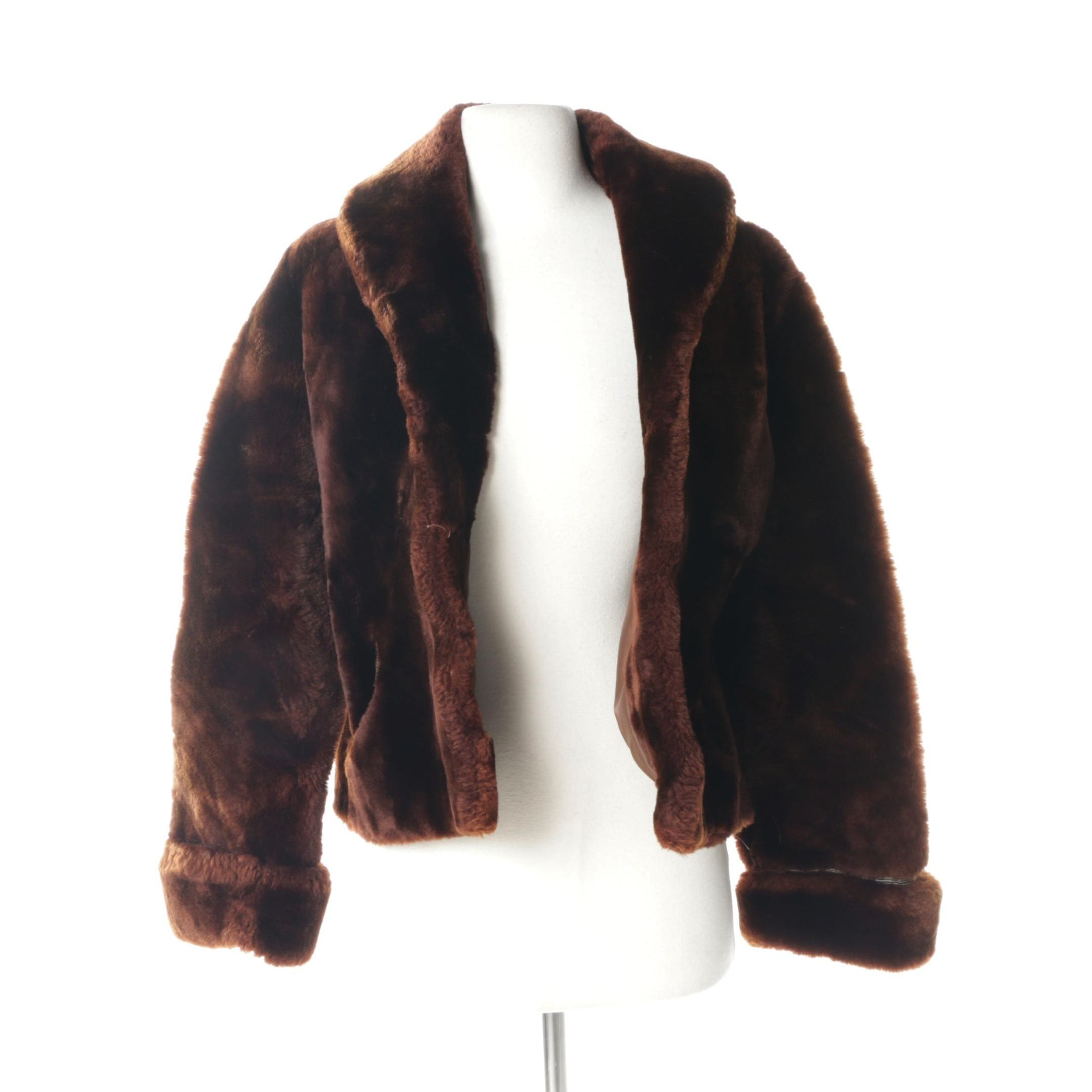 Women's Vintage Mouton Fur Coat