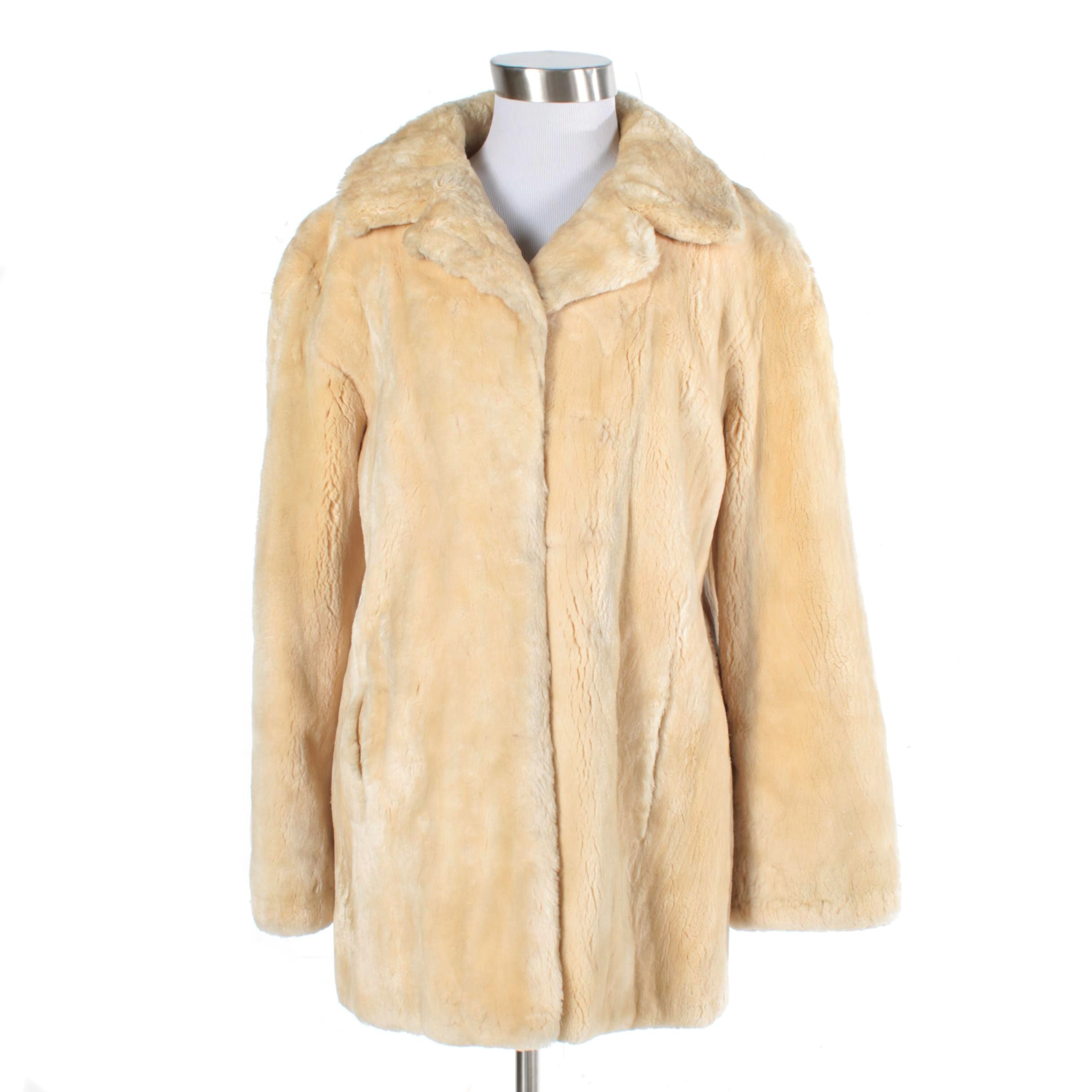 Women's Vintage Dyed Sheared Beaver Fur Coat