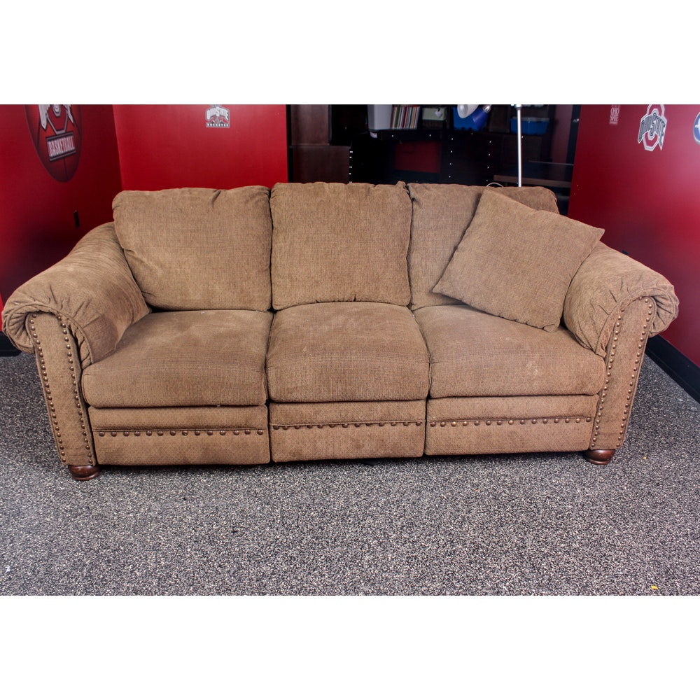 Upholstered Recliner Sofa