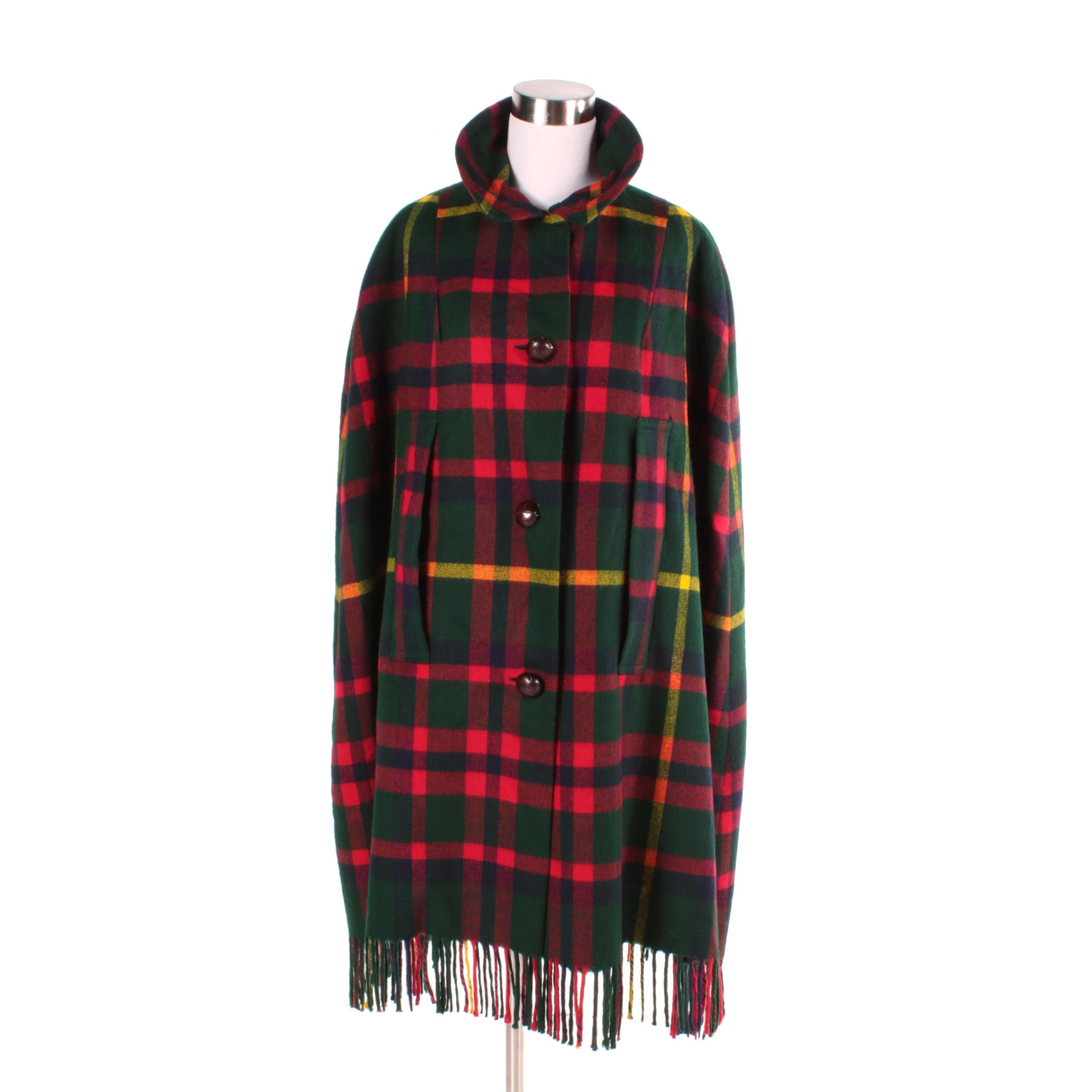 Women's Scottish Lambswool Plaid Cape
