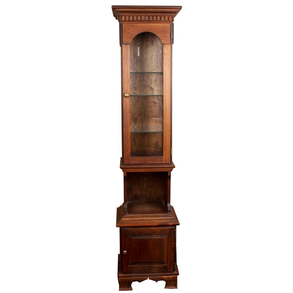 Pine Curio Cabinet