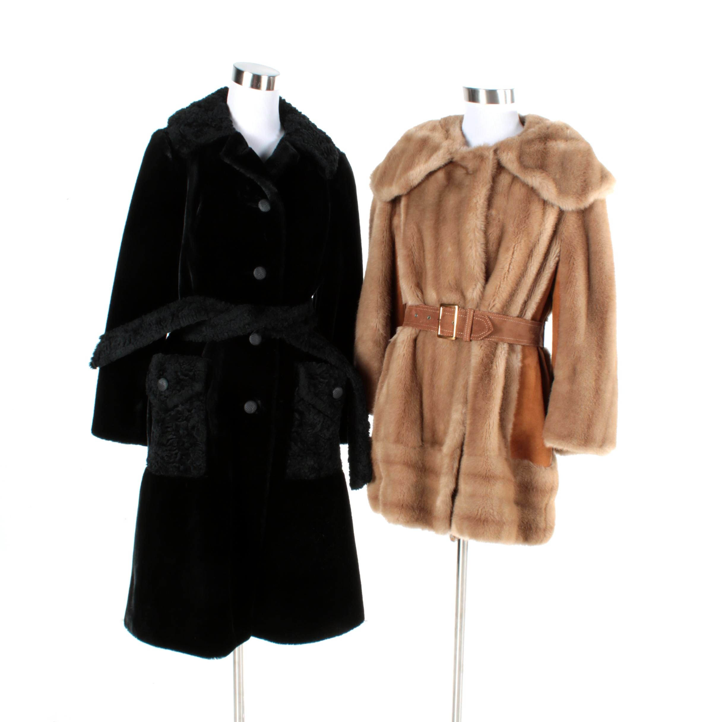 Women's Faux Fur Coats Including Lilli Ann and Betty Rose