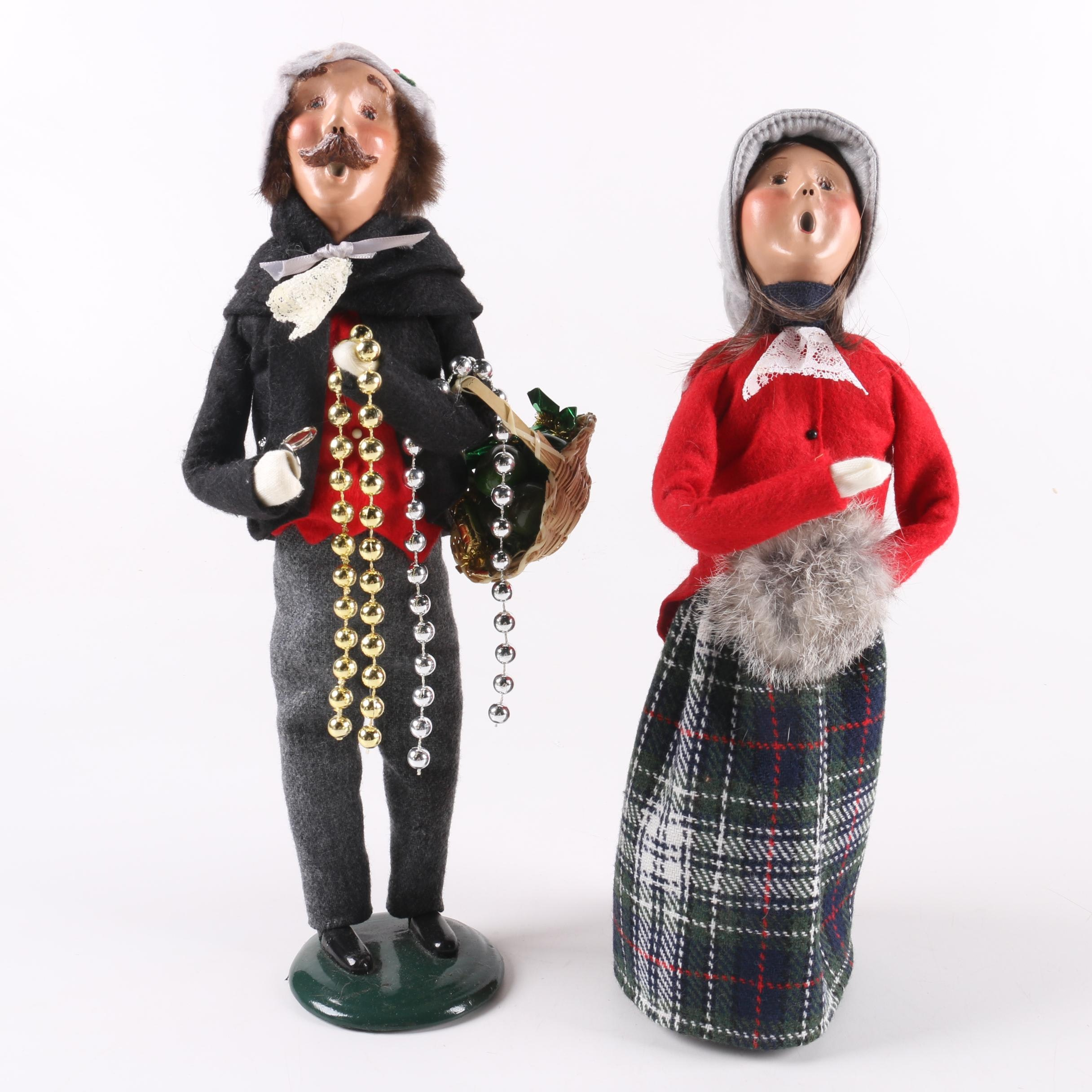 "Singing Carolers Candleholders Figurines Vintage By: Vintage Byers' Choice ""The Carolers"" Dolls : EBTH"