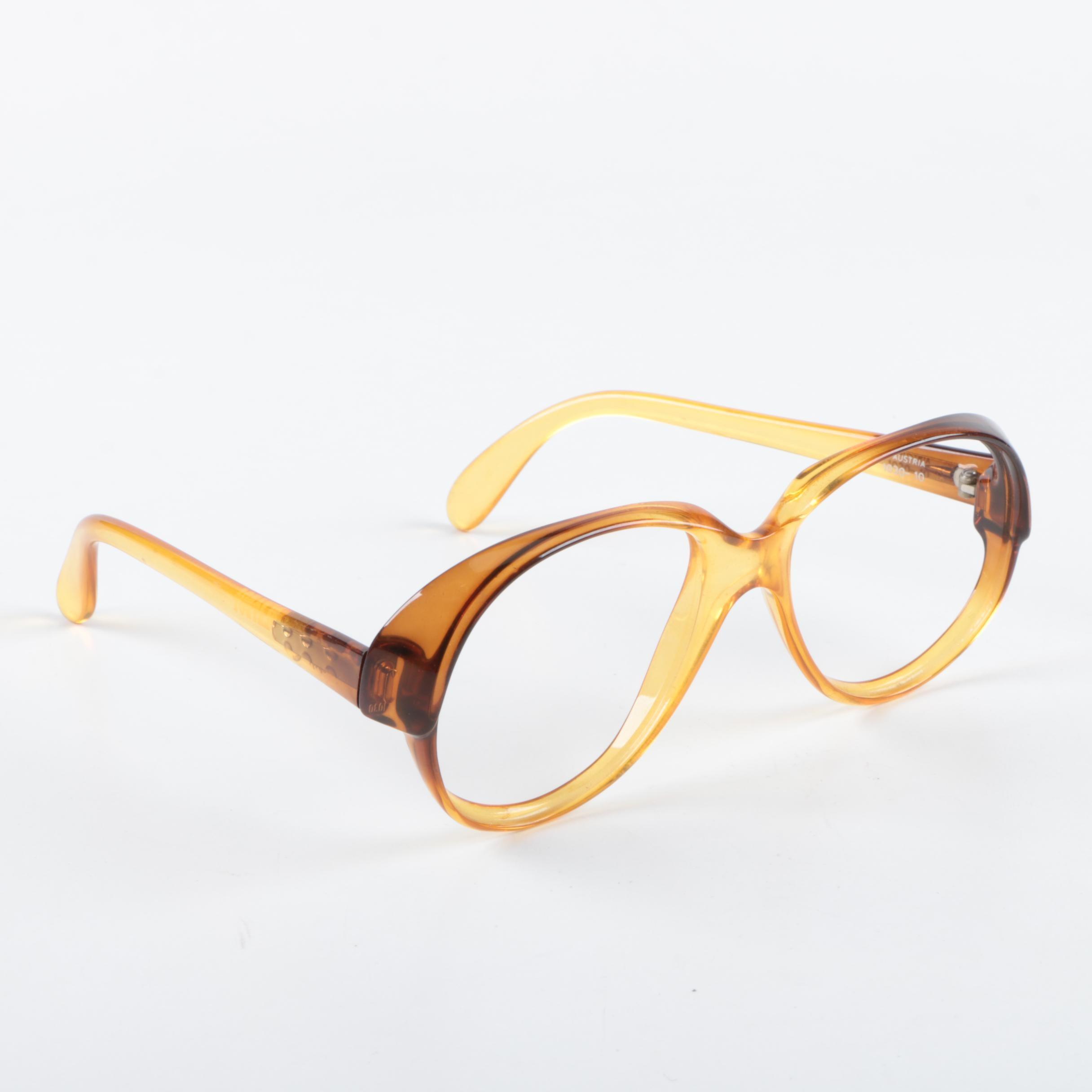 1980s Vintage Playboy 1030-10 Eyeglass Frames
