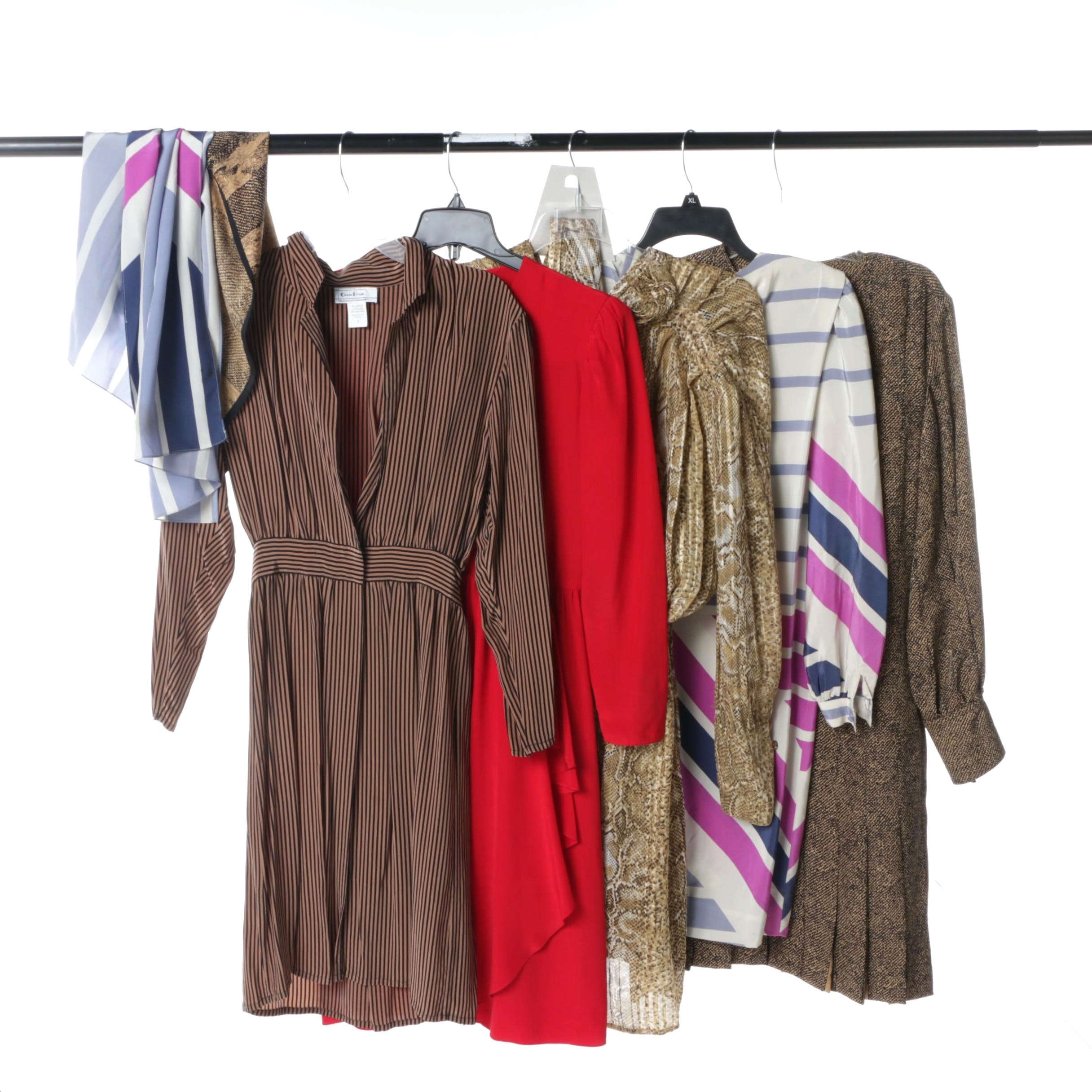 Women's 1980s Vintage Dresses Including Bill Blass and Francesca of Damon