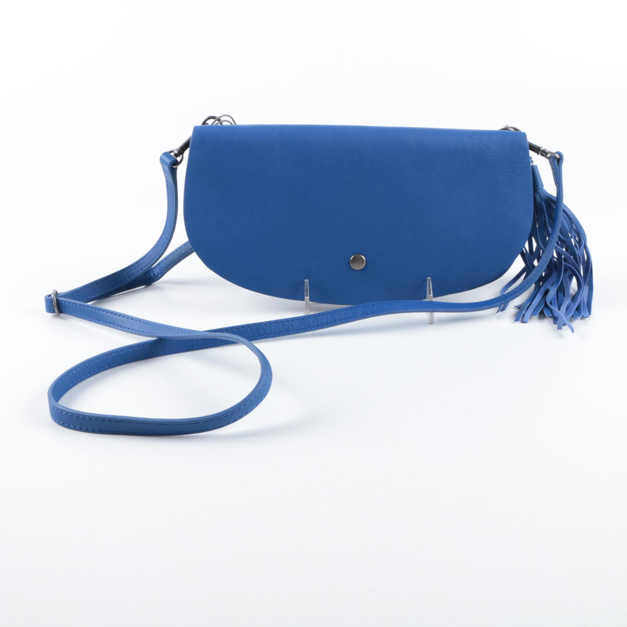 Lucky Brand Blue Leather Crossbody Bag