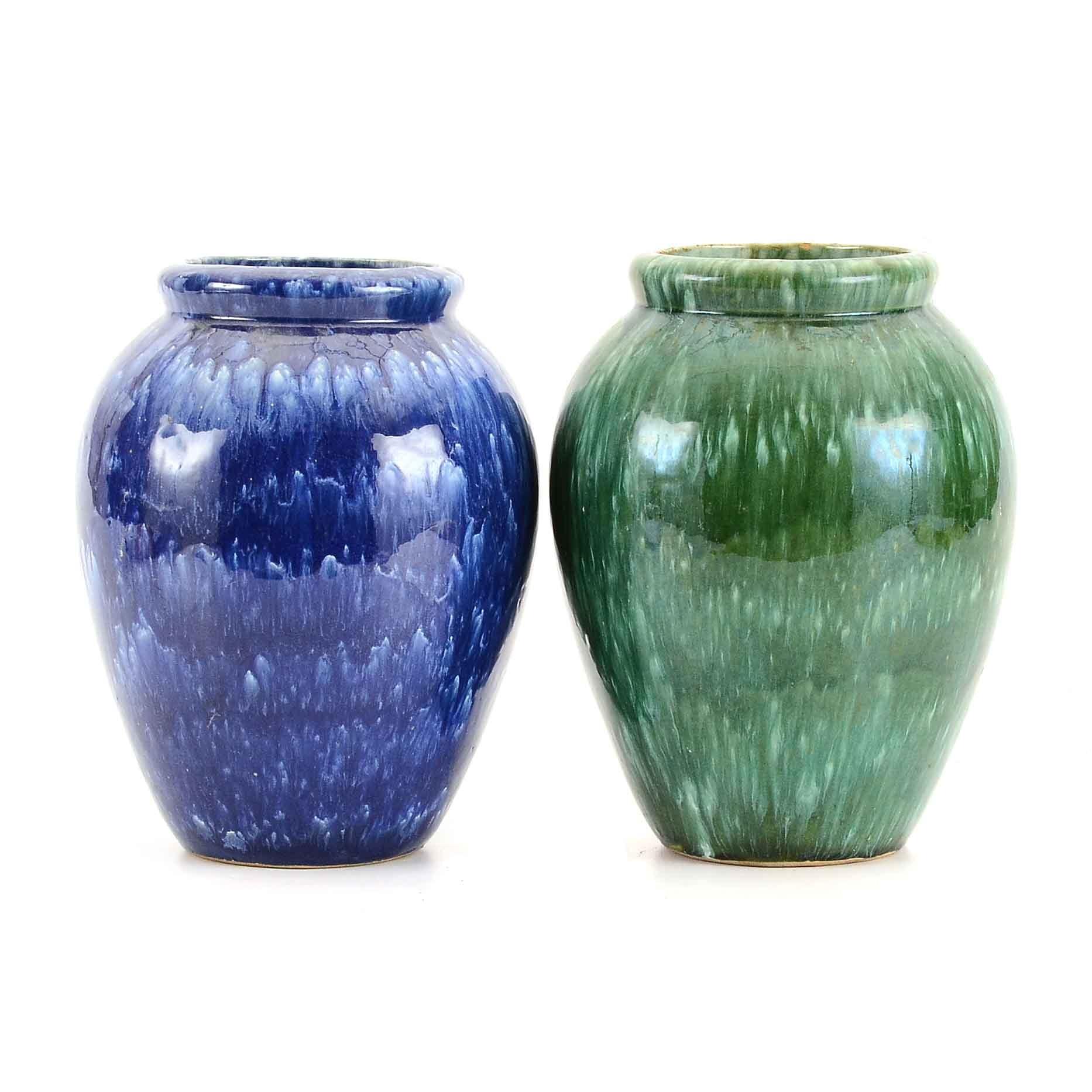 Pair of Nelson McCoy Vintage Vases