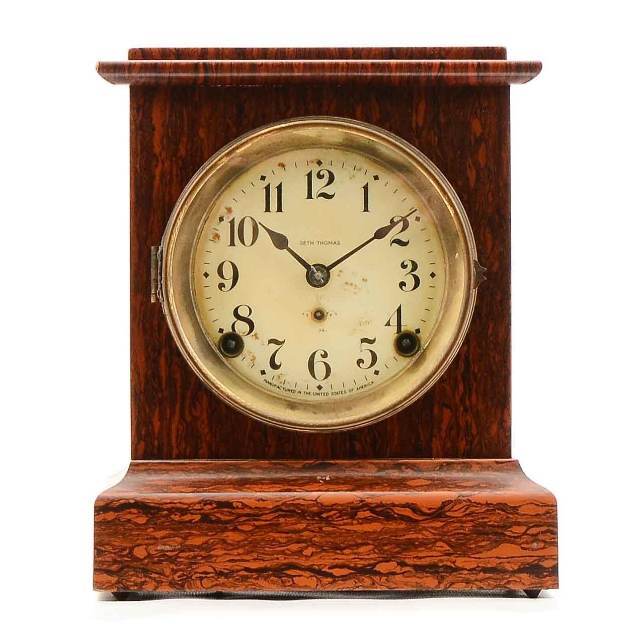 "Antique Seth Thomas ""Adamantine"" Mantel Clock"