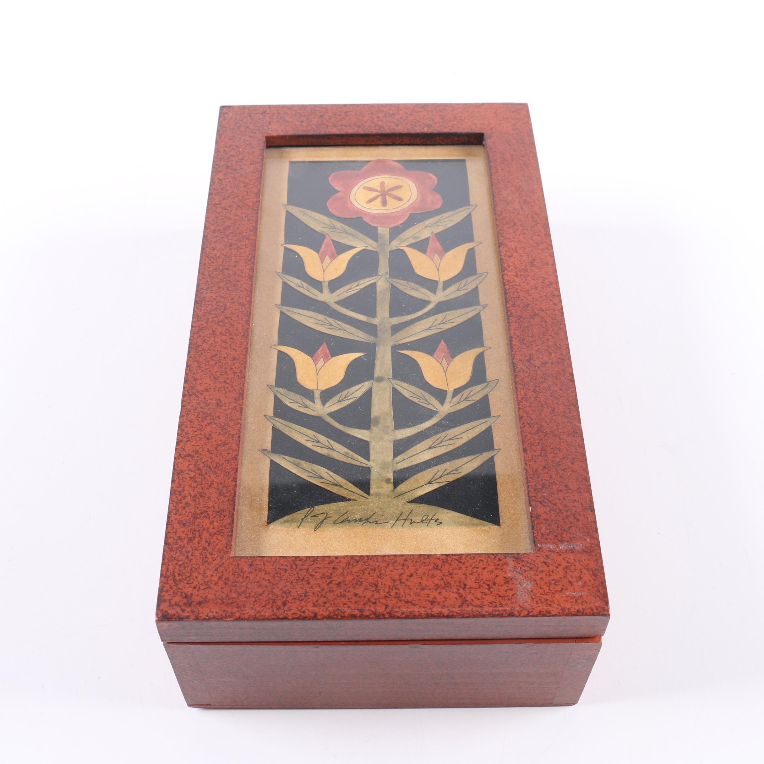 Hinged Wood and Glass Box
