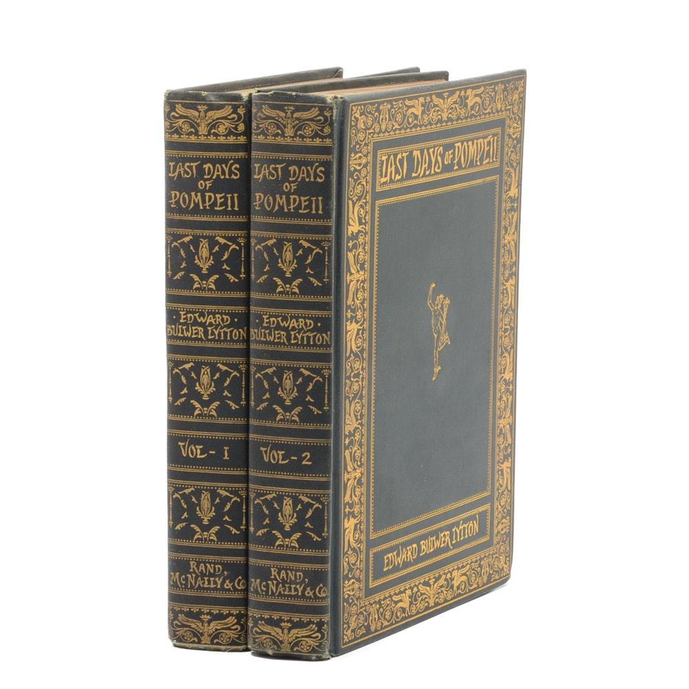 "Antique Copy of Lytton's ""Last Days of Pompeii"" Novel"