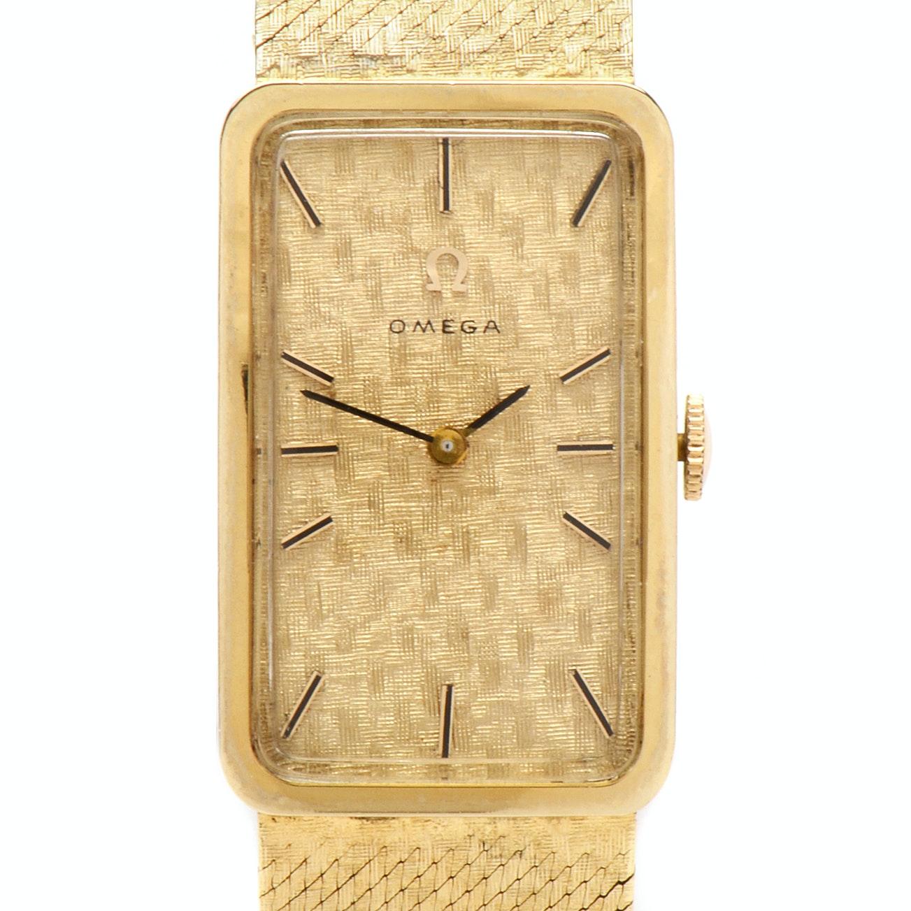 Omega 14K Yellow Gold Manual Wind Wristwatch