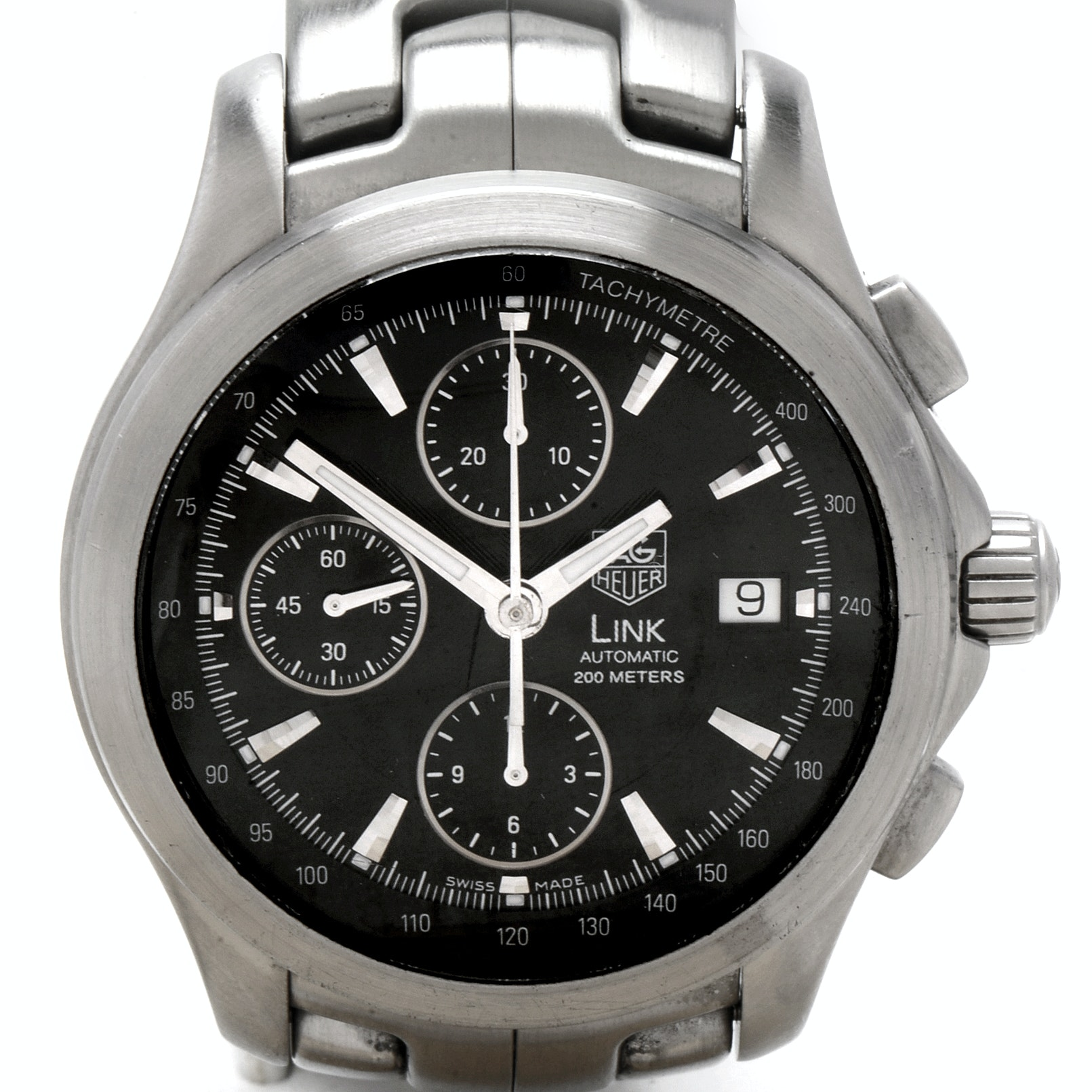 TAG Heuer Link Automatic Chronograph 200M Stainless Steel Wristwatch