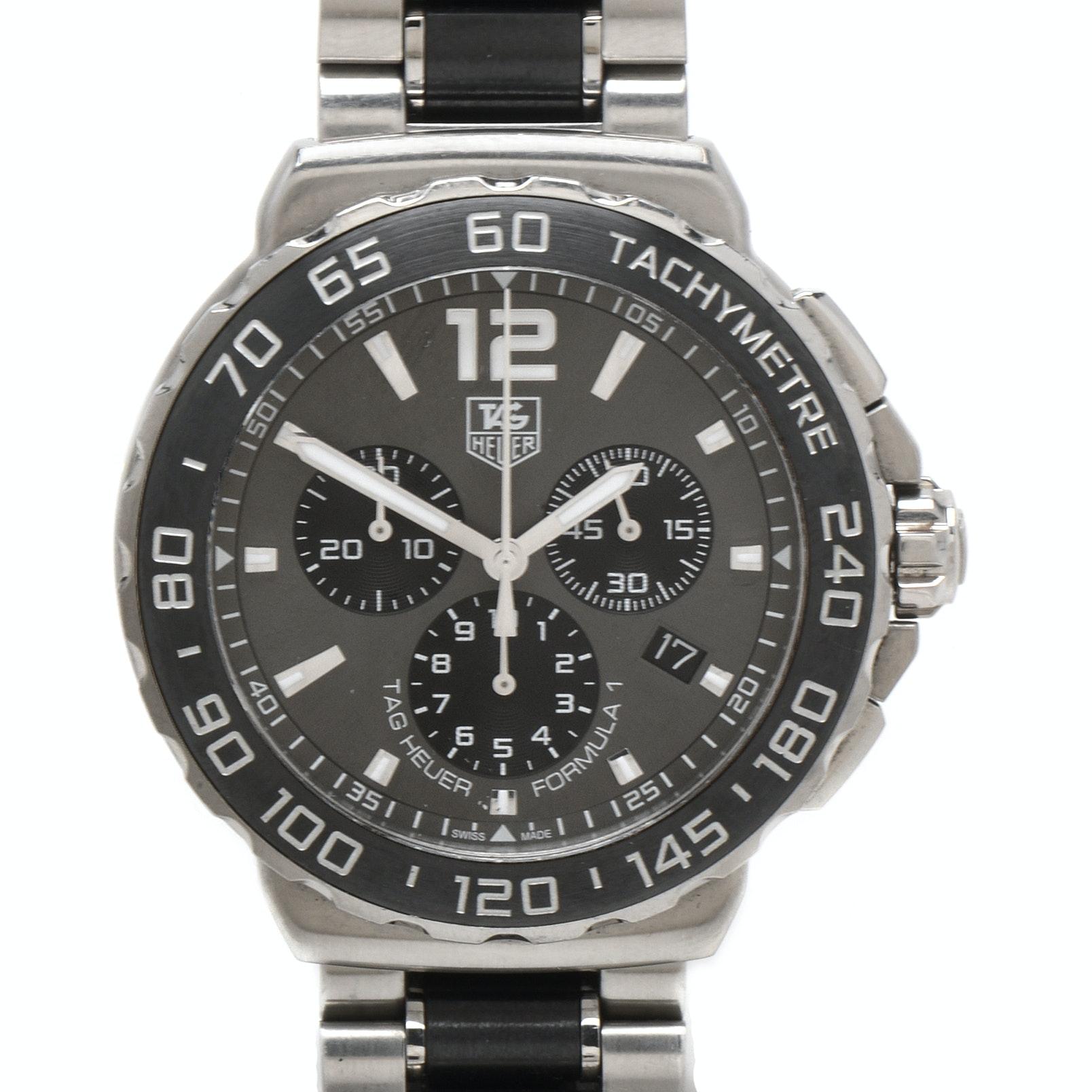 TAG Heuer Formula 1 Chronograph Ceramic and Steel Anthracite Quartz Wristwatch
