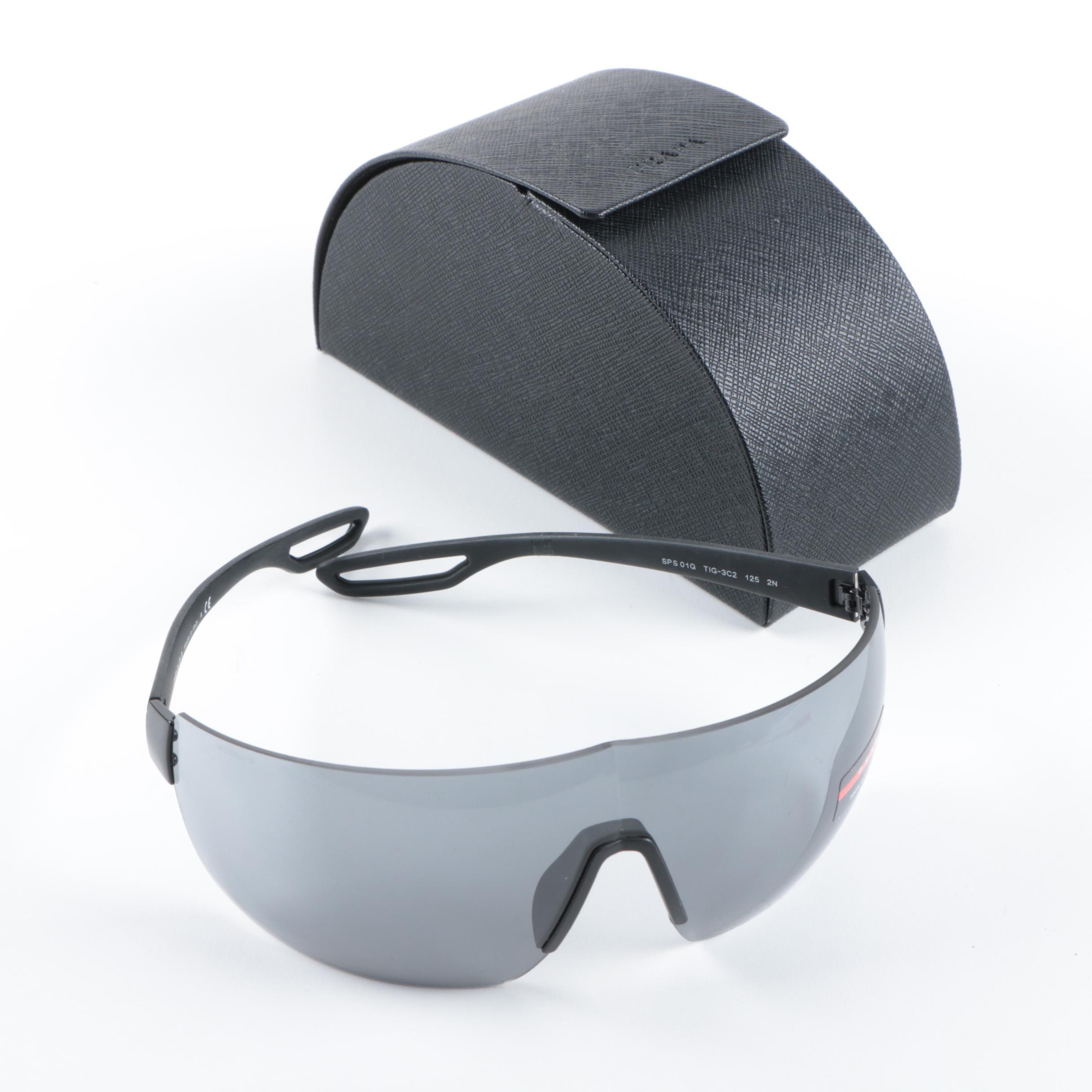 Prada Linea Rossa SPS 01Q Shield Sunglasses