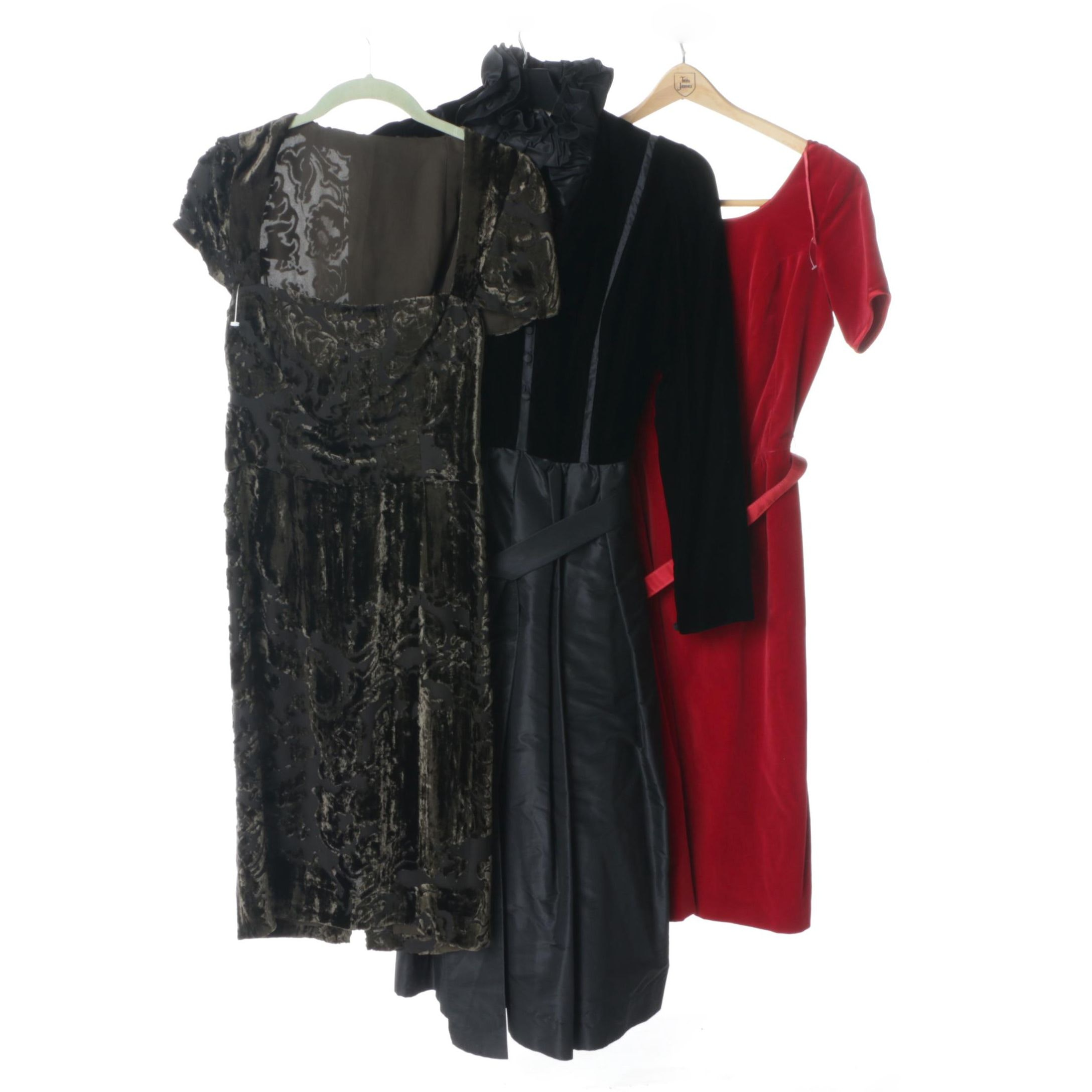 1960s Velvet Evening Dresses Including Albert Nipon and BuRNout