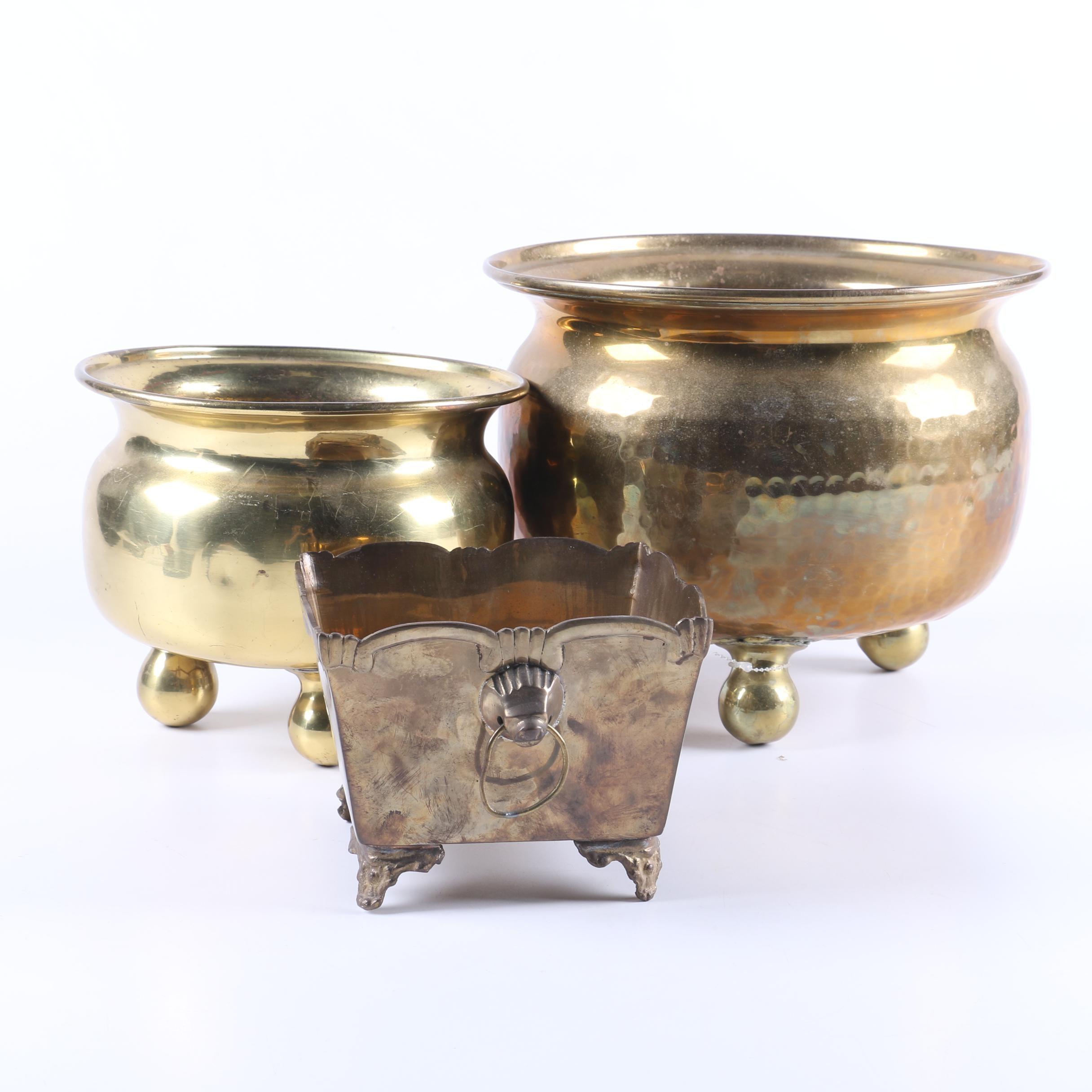Vintage Brass Pots