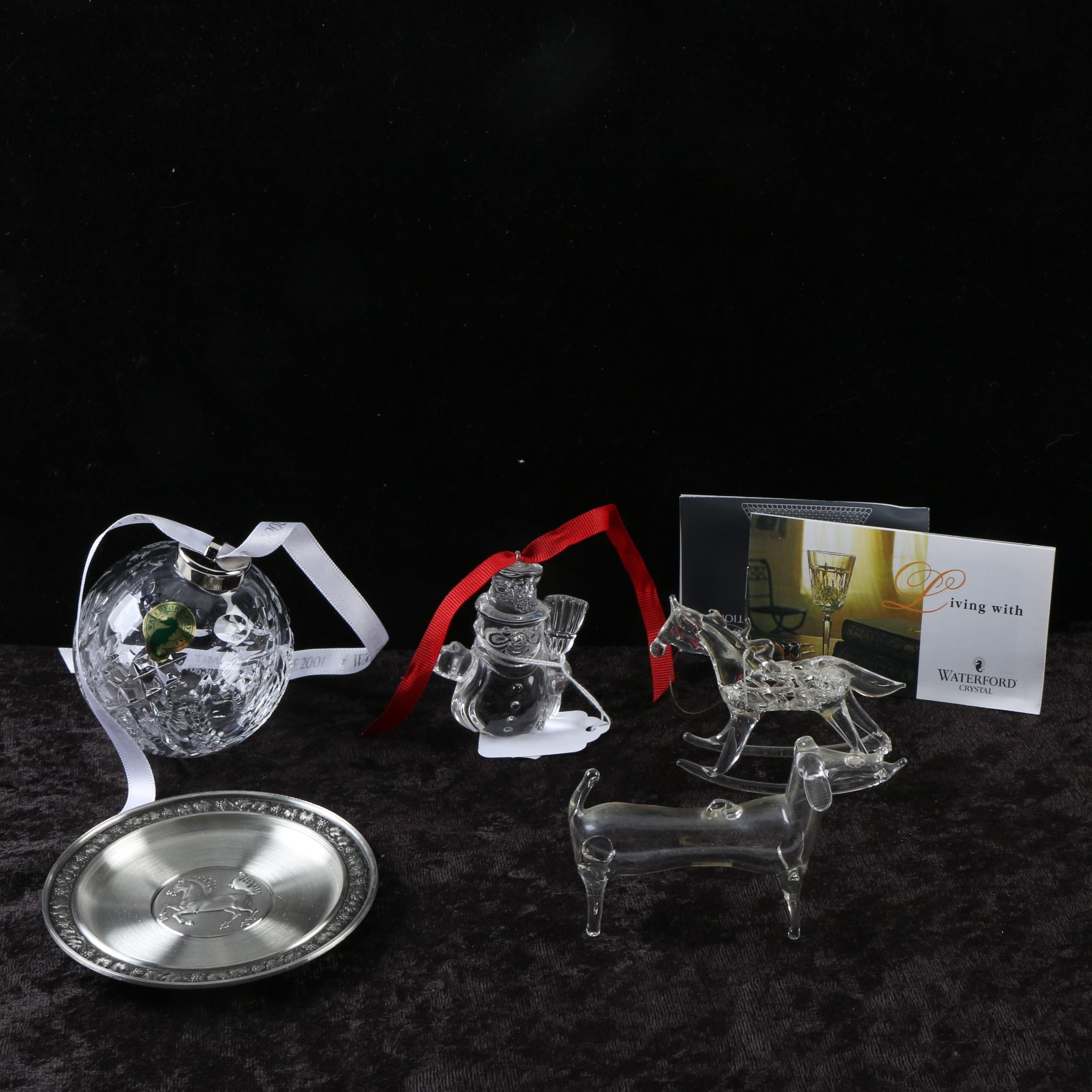 Holiday Ornaments Including Waterford Crystal