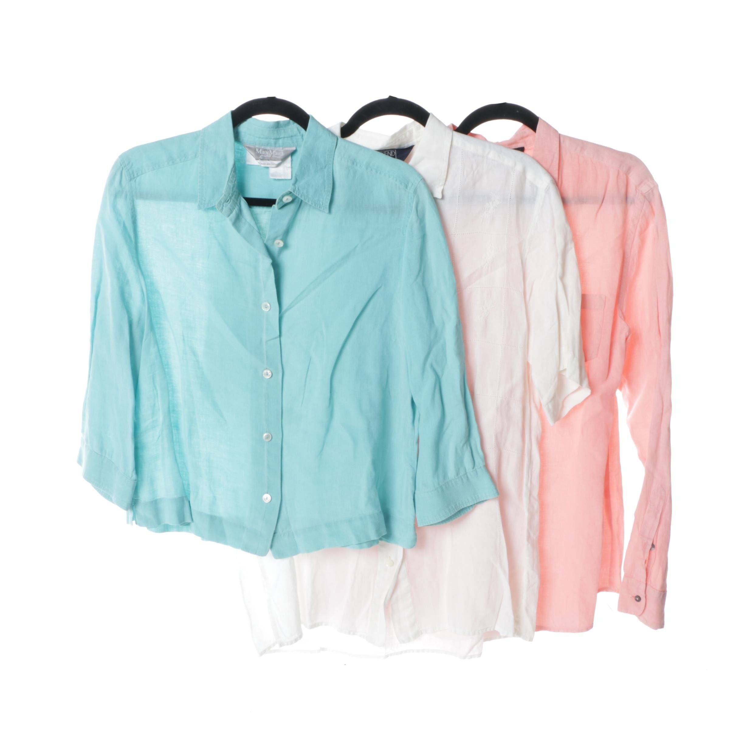 Women's Weekend by MaxMara Italian Linen Shirts