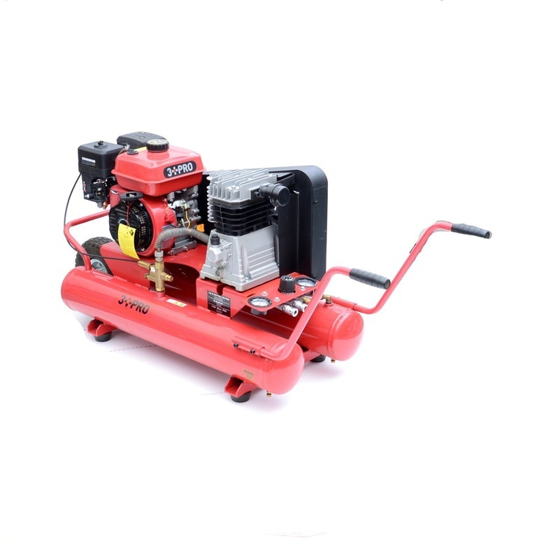3 PRO 8 Gallon Oil Lubricated Wheelbarrow Compressor