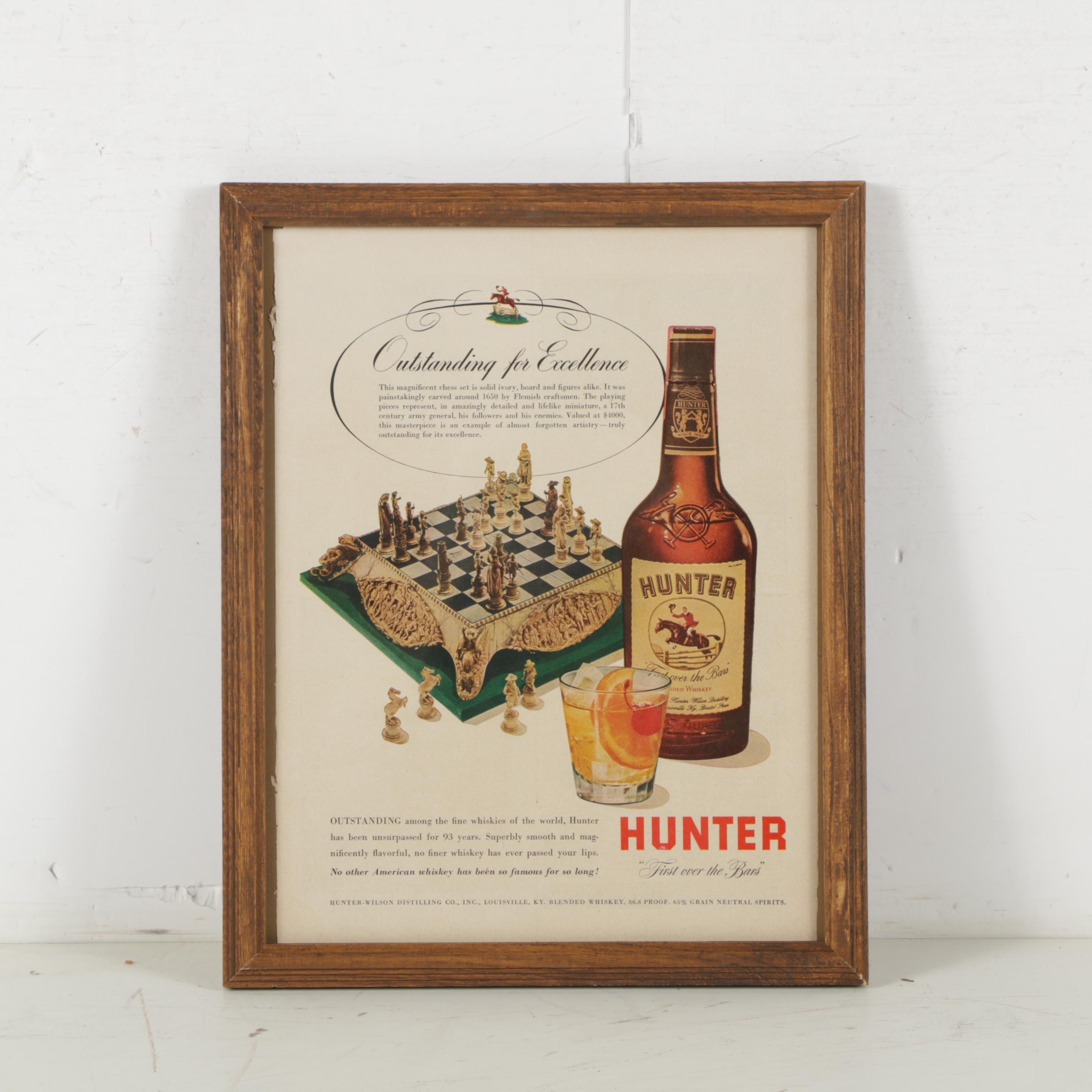 Vintage Hunter Whiskey Magazine Advertisement
