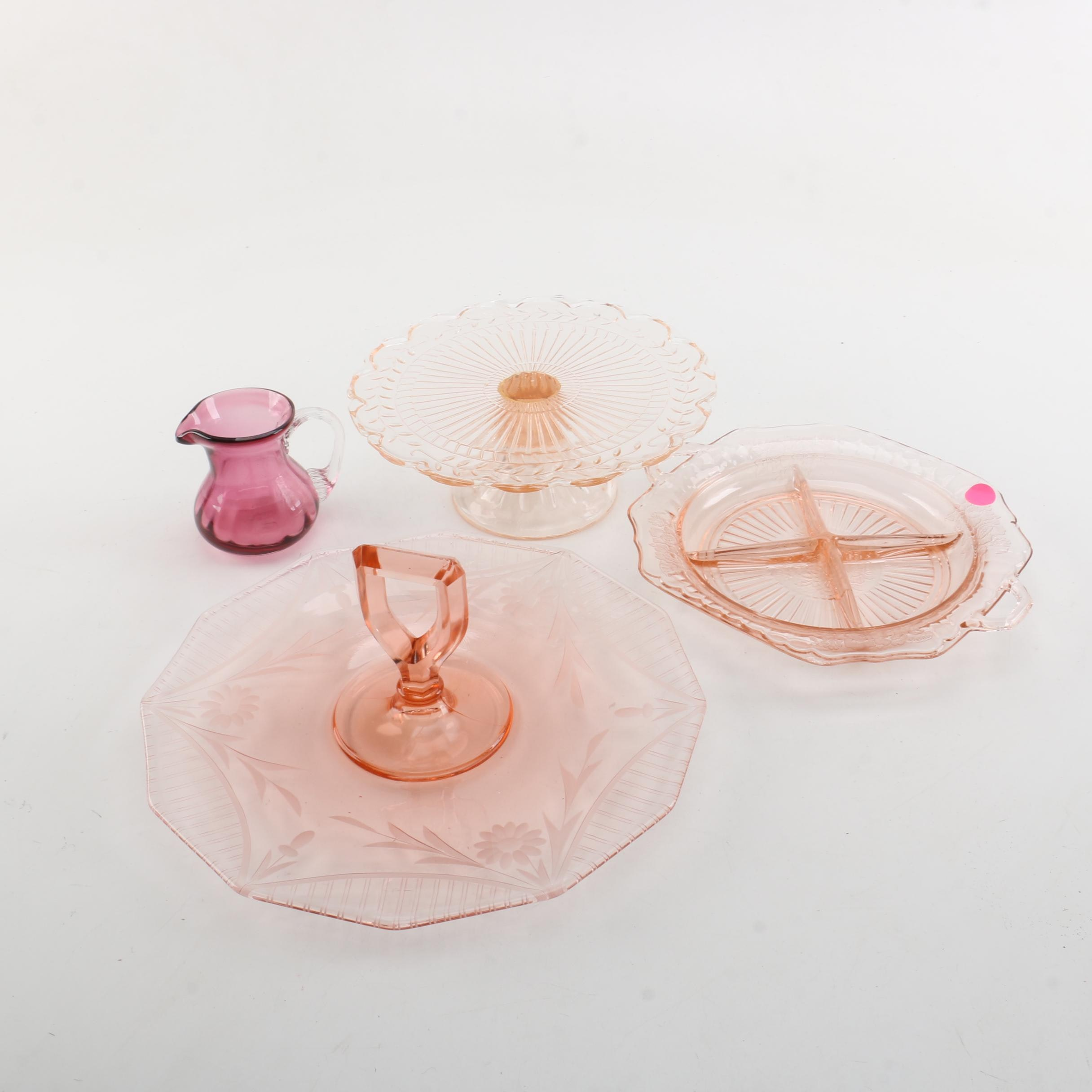 Glass Serveware including Depression Glass