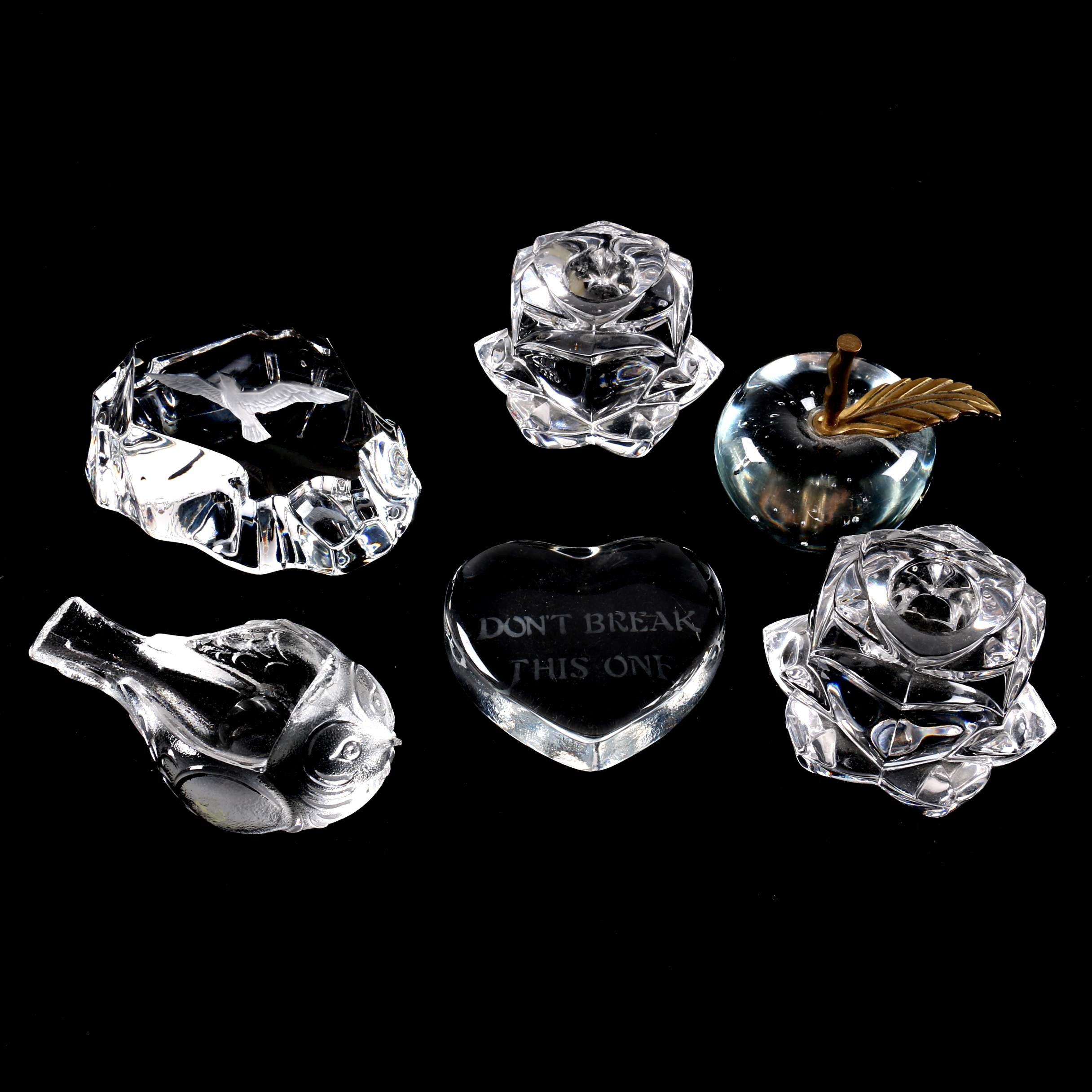 Crystal and Glass Paperweights and Candle Holders