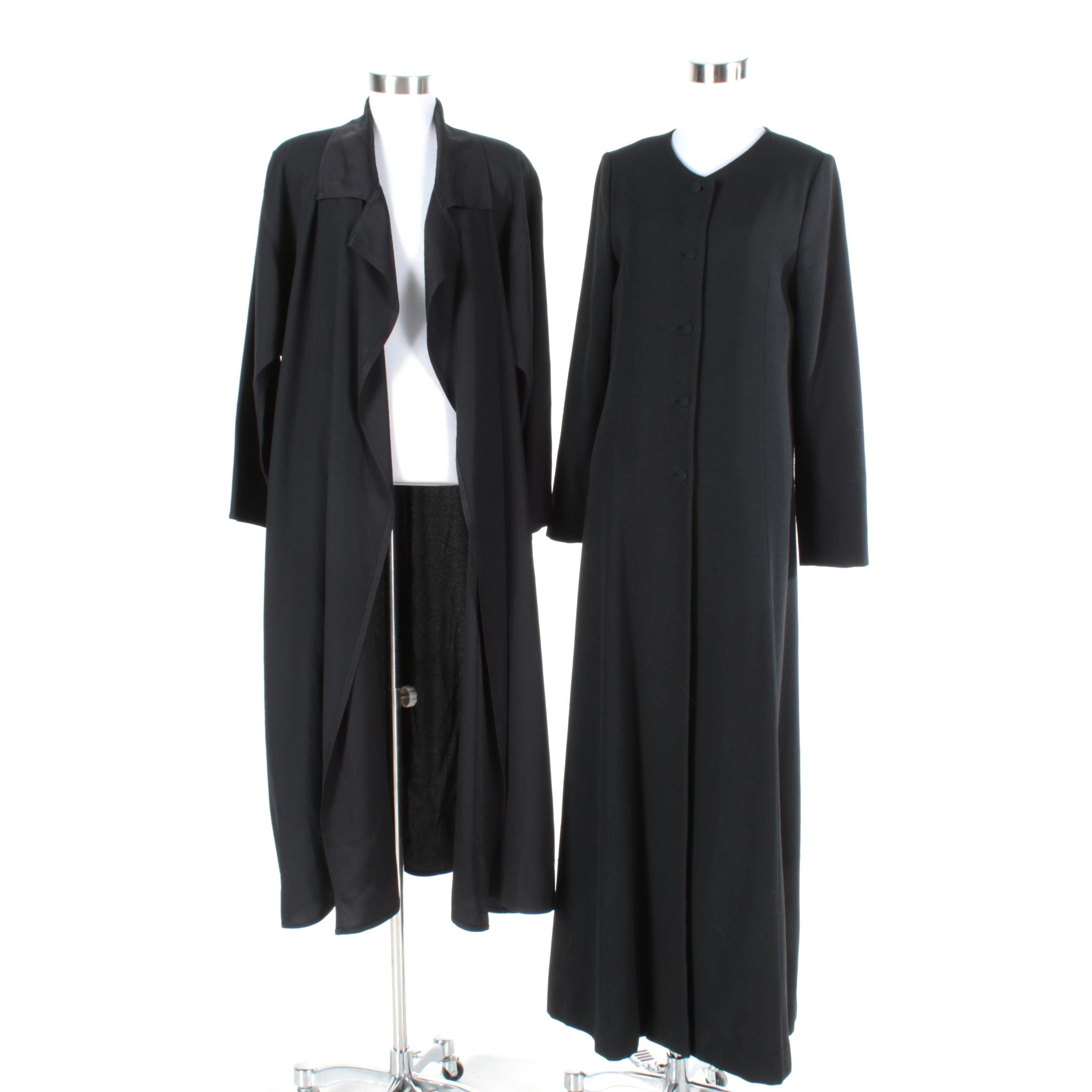 Black Jacket with Helene Sidel Dress Coat