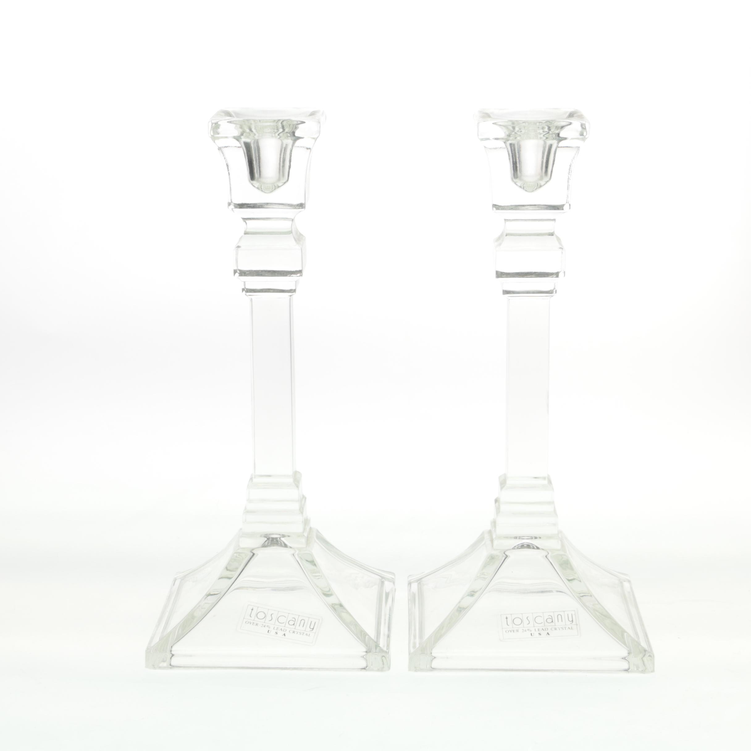 Toscany Crystal Candle Holders