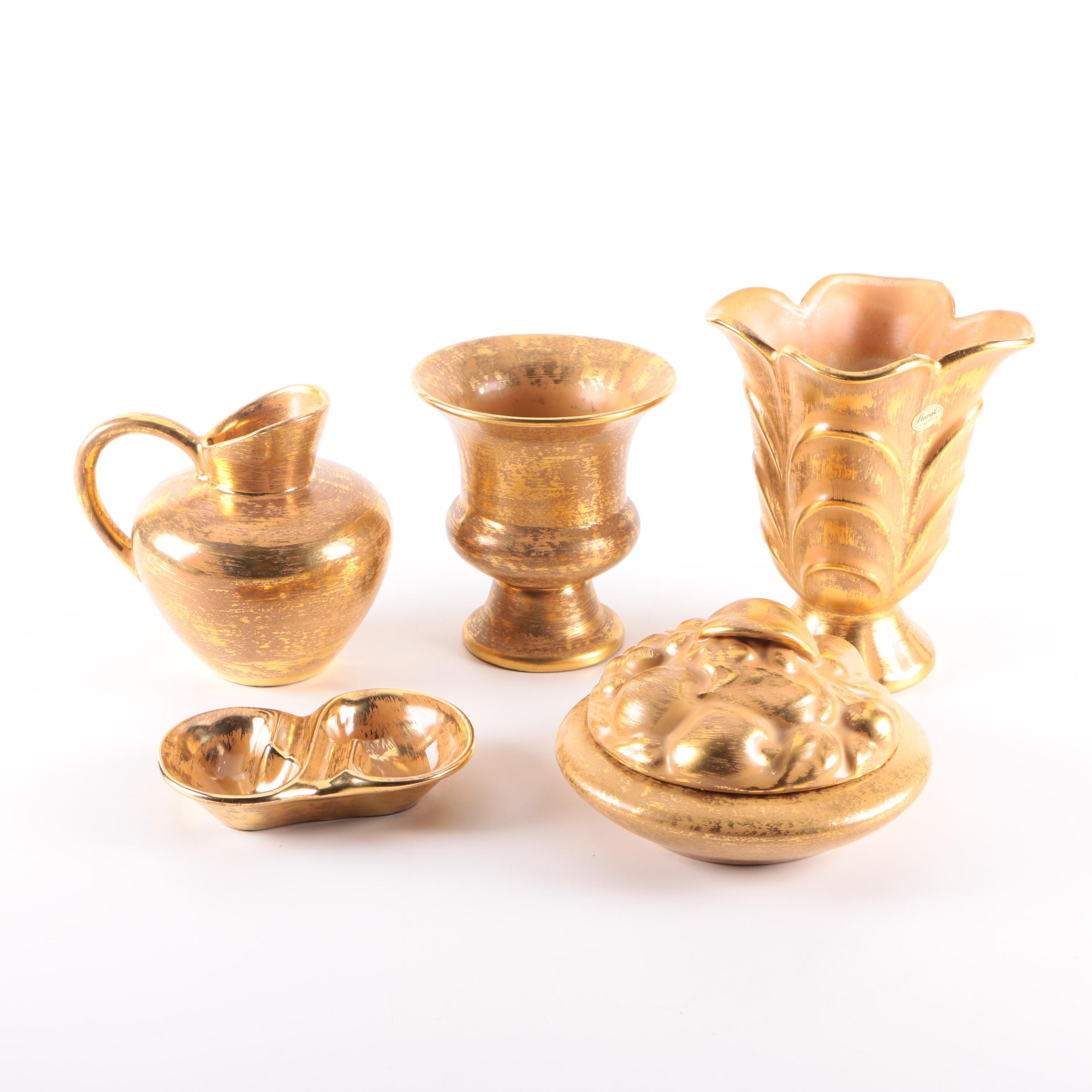 "Vintage Stangl ""Granada Gold"" Tableware and Vases"